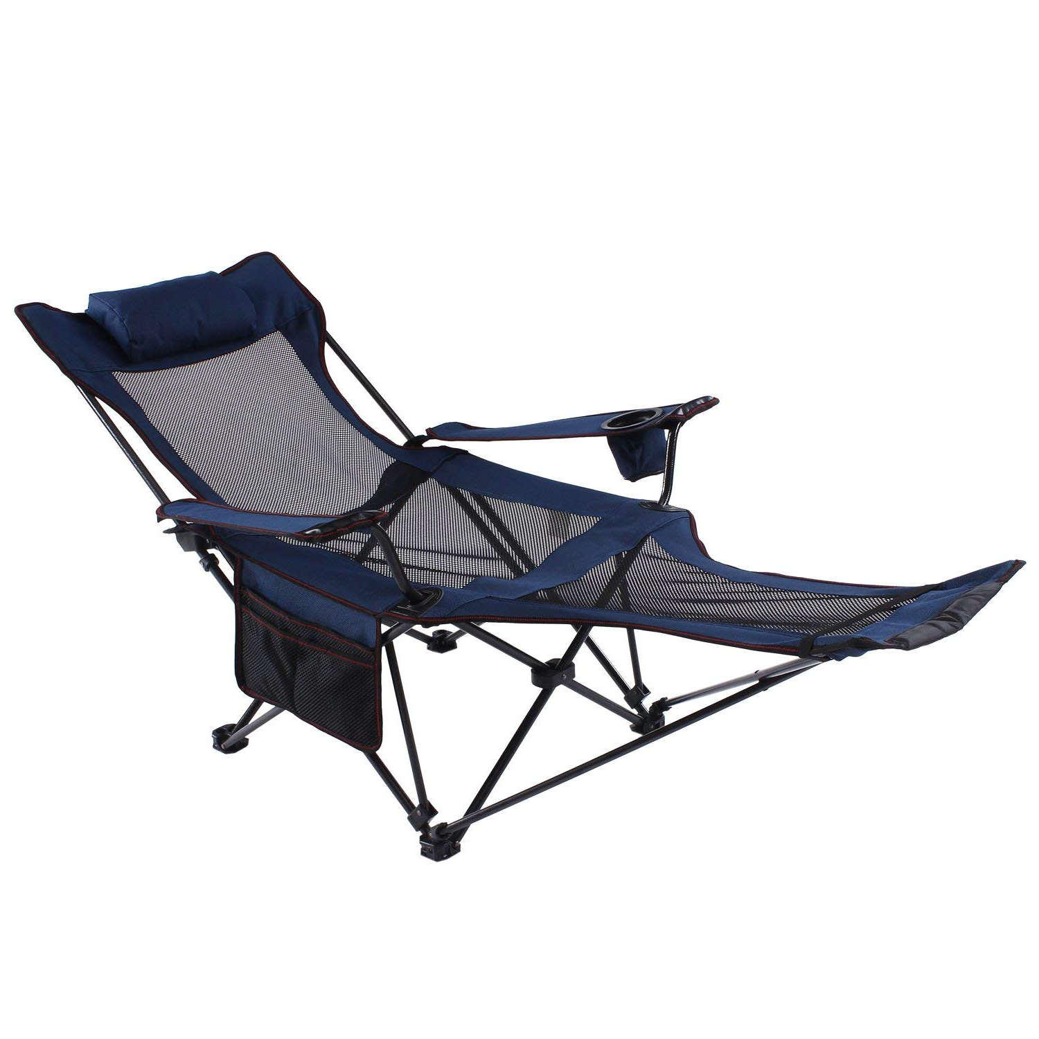 Favorite Seatopia Camping Recliner And Lounge Chair, Backpacking Folding Chair With  Headrest, Footrest And Storage Bag For Outdoor Camping, Bbq, 300Lbs Weight Throughout Foldable Camping And Lounge Chairs (View 6 of 25)