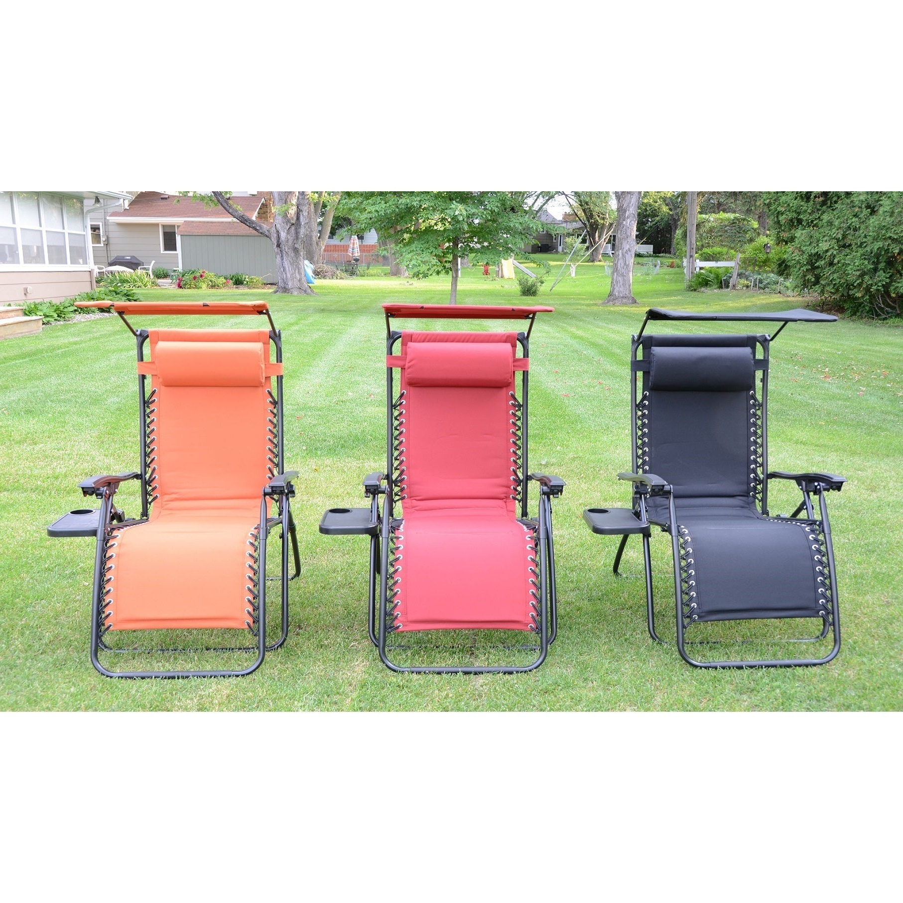 Favorite Styled Shopping Deluxe Padded Zero Gravity Chair With Canopy And Tray Intended For Deluxe Padded Chairs With Canopy And Tray (View 15 of 25)