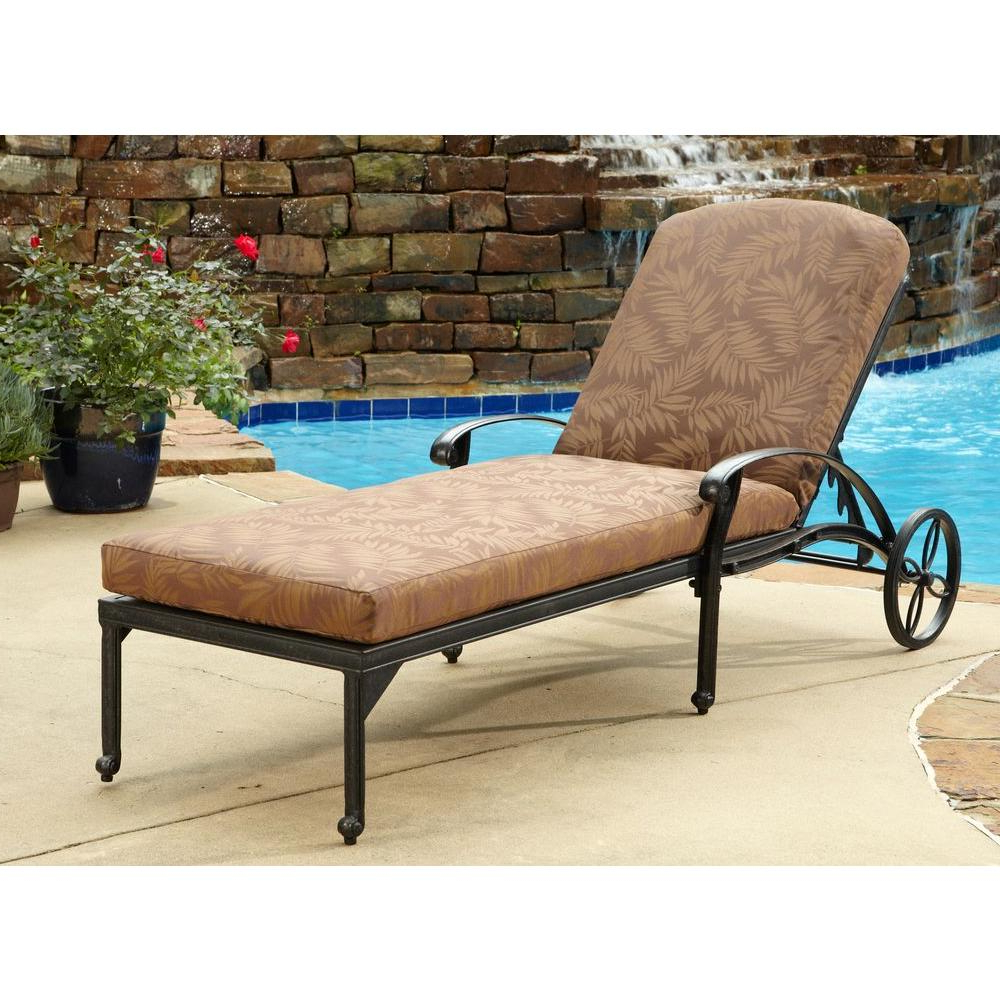 Featured Photo of Floral Blossom Chaise Lounge Chairs with Cushion