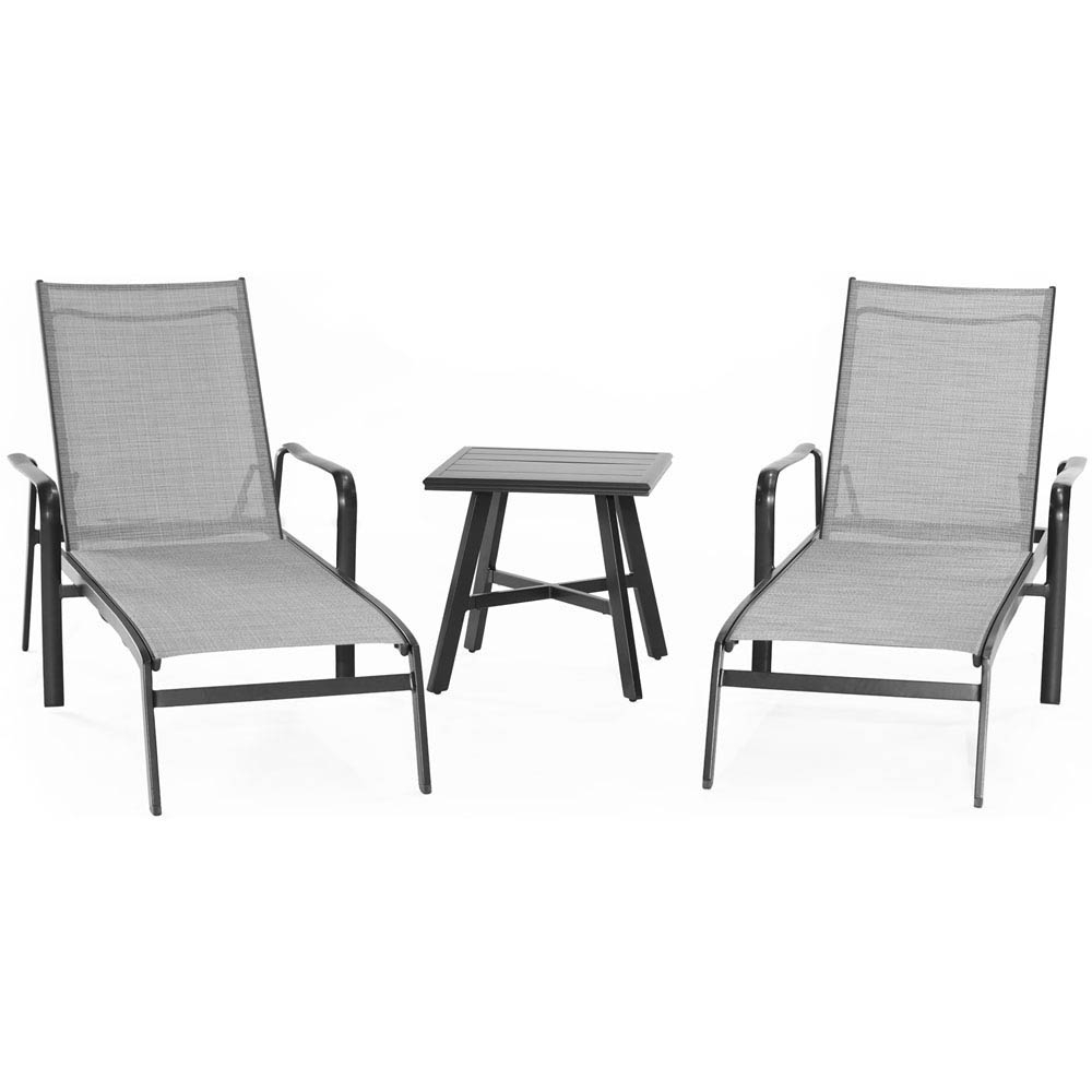 Foxhill 3 Piece All Weather Commercial Grade Aluminum Chaise Lounge Chair Set With 22 Within Well Known Outdoor 3 Piece Chaise Lounger Sets With Table (View 21 of 25)