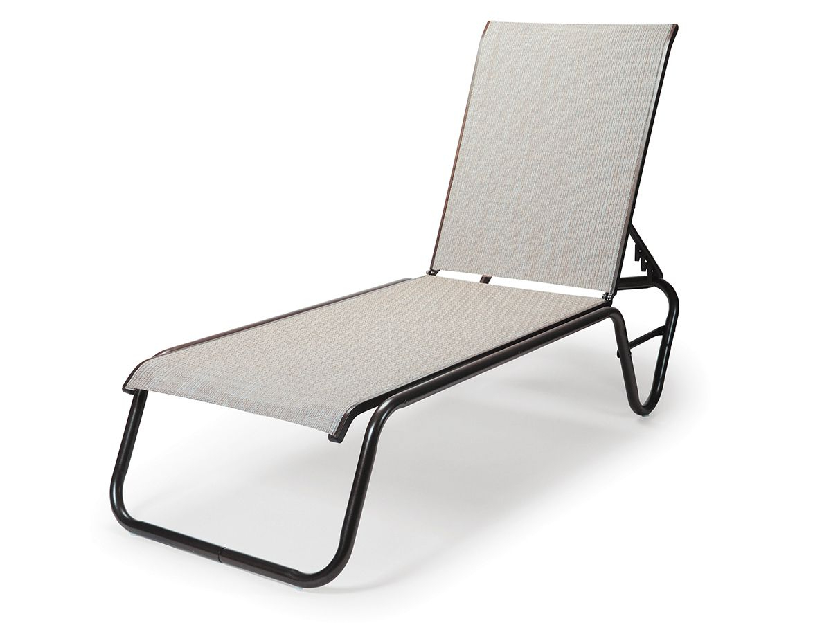 Gardenella Sling Adjustable Armless Chaise 808 Regarding Most Popular Adjustable Sling Fabric Patio Chaise Lounges (View 23 of 25)
