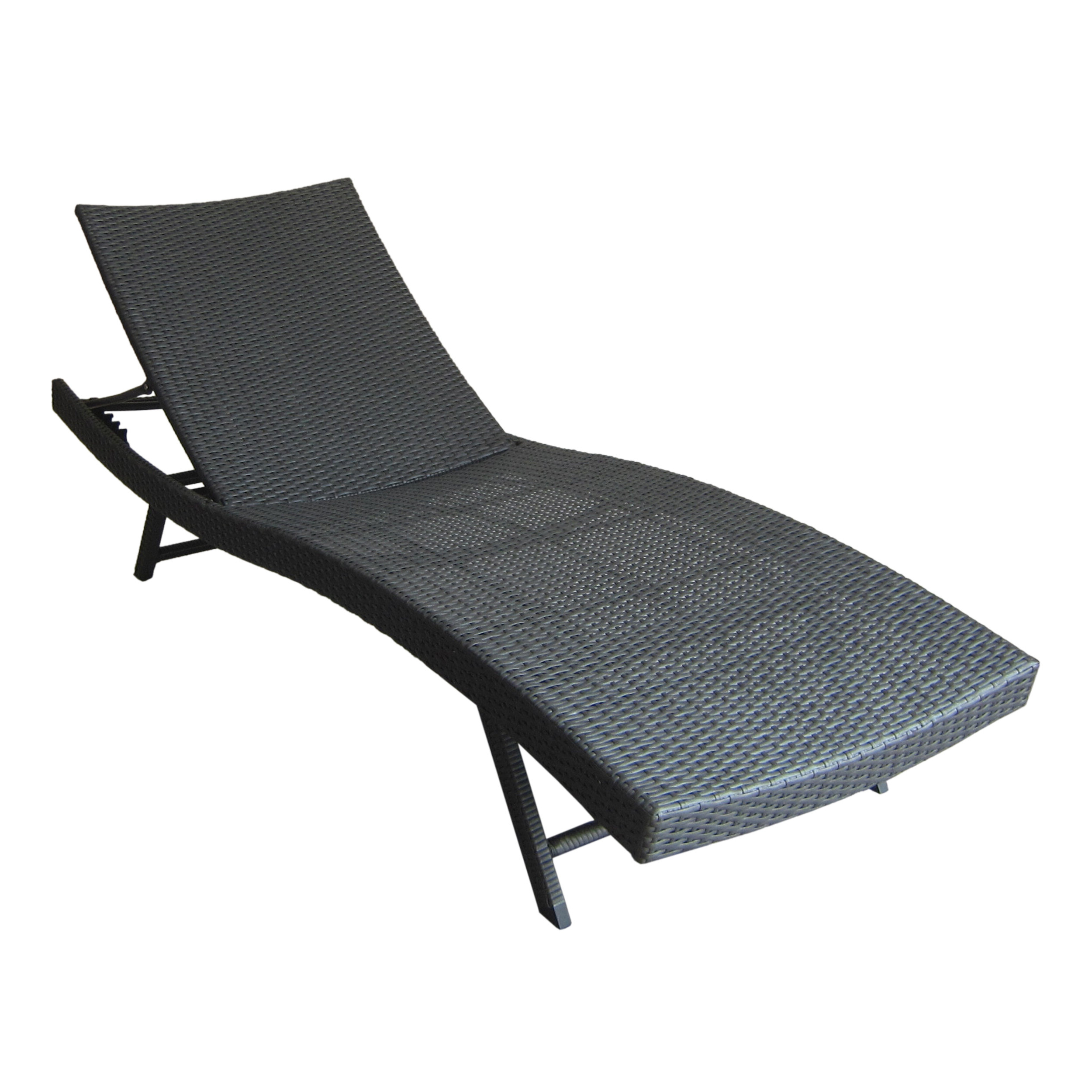 Gerson Outdoor Wicker Reclining Chaise Lounge In Recent All Weather Single Outdoor Adjustable Loungers (View 14 of 25)