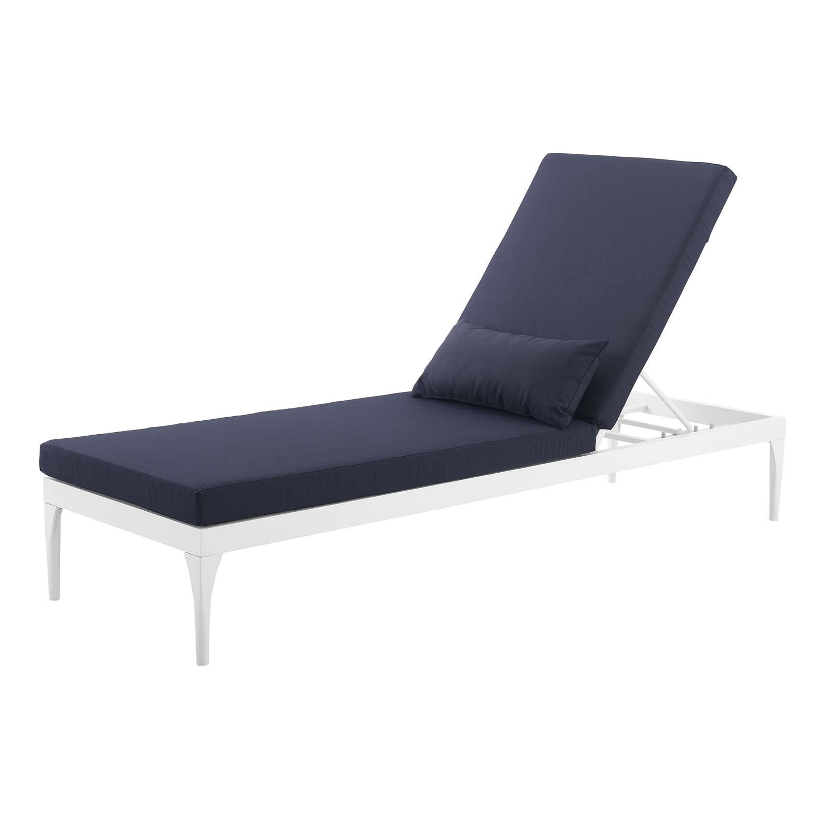 Glimpse Outdoor Patio Mesh Chaise Lounge Chairs Within 2019 Perspective Cushion Outdoor Patio Chaise Lounge Chair (View 8 of 25)