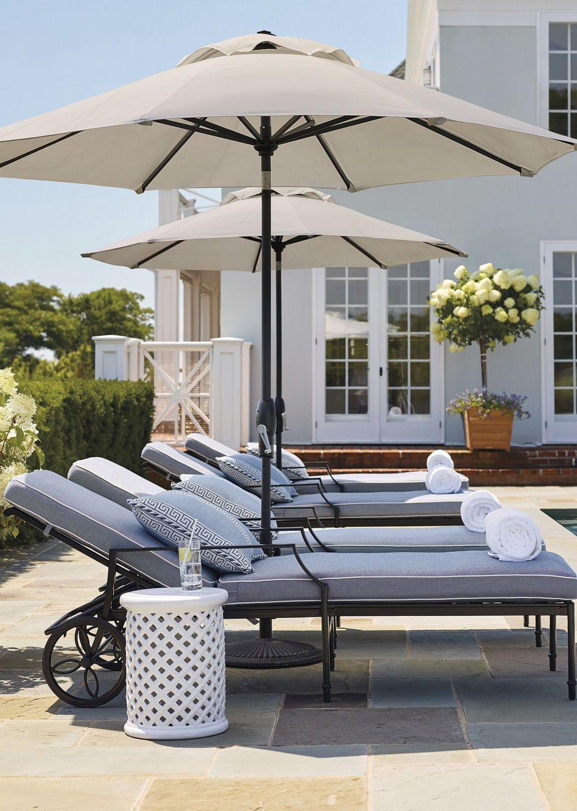 Grayson Chaise Lounge Chair With Cushions In Black Finish In Preferred Lattice Outdoor Patio Pool Chaise Lounges With Wheels And Cushion (View 18 of 25)