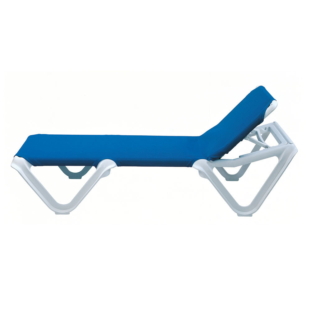Grosfillex 2ea Nautical Outdoor Patio Sling Chaise Lounge Color Options Within Newest Nautical Outdoor Chaise Lounges With Arms (View 23 of 25)
