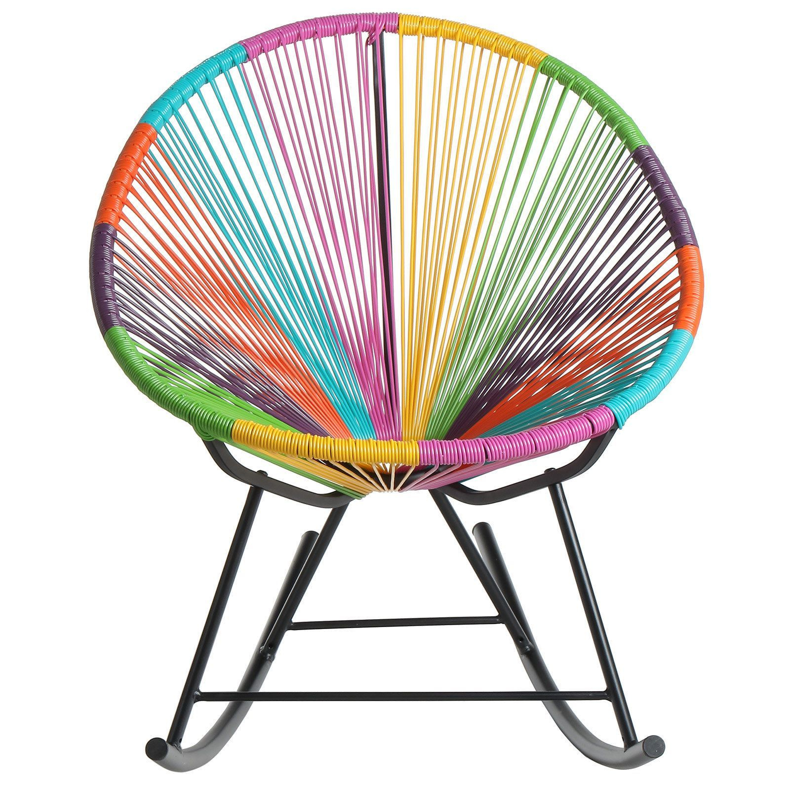 Handmade Acapulco Woven Indoor Outdoor Lounge Chairs For 2019 This Fun Multicolored Lounge Chair Offers Comfort And Style (View 10 of 25)