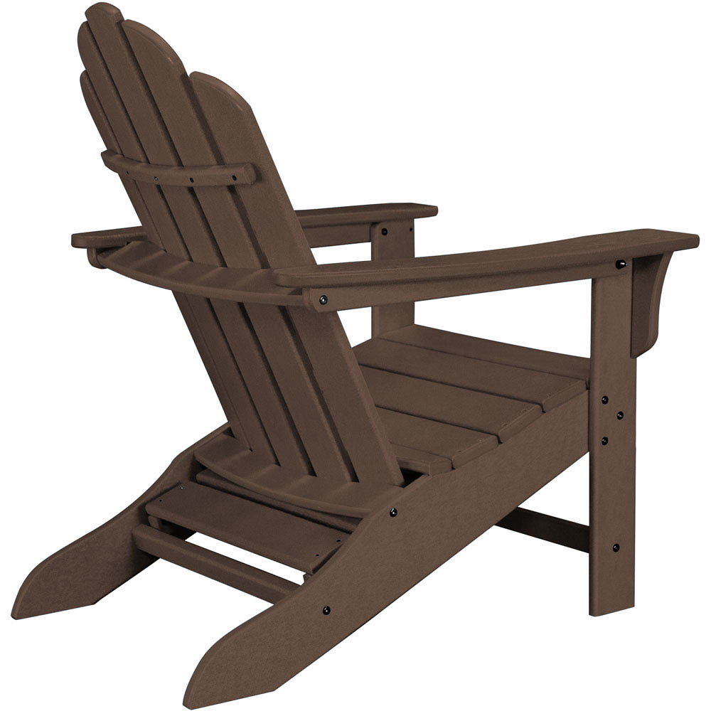Hanover All Weather Contoured Adirondack Chair With Hideaway Ottoman Mahogany, Hvlna15ma With Regard To Most Popular Mahogany Adirondack Chairs With Ottoman (View 14 of 25)