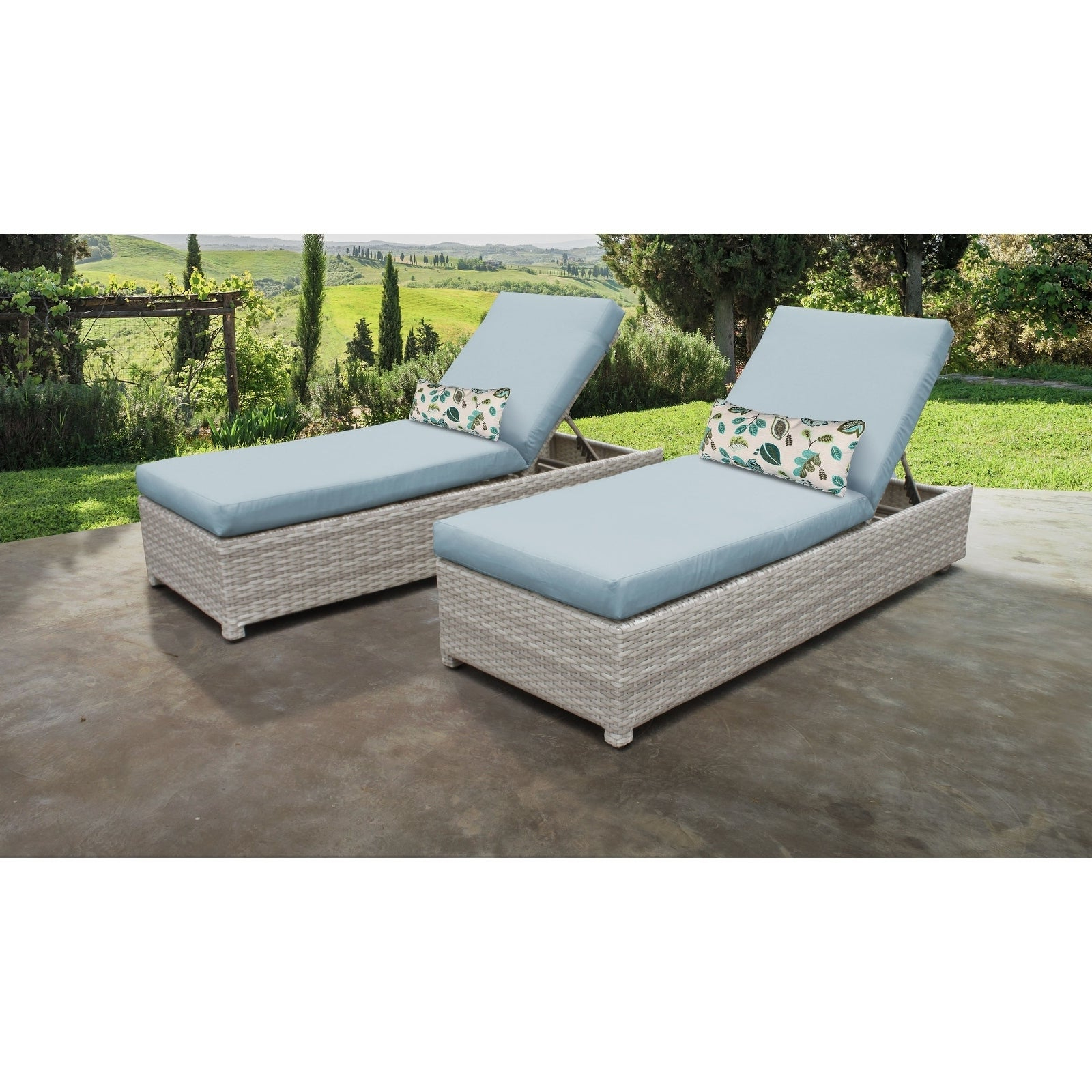 Havenside Home Cambridge Bay Chaise Lounges With Cushions In Most Up To Date Fairmont Wheeled Chaise Set Of 2 Outdoor Wicker Patio Furniture (View 6 of 25)