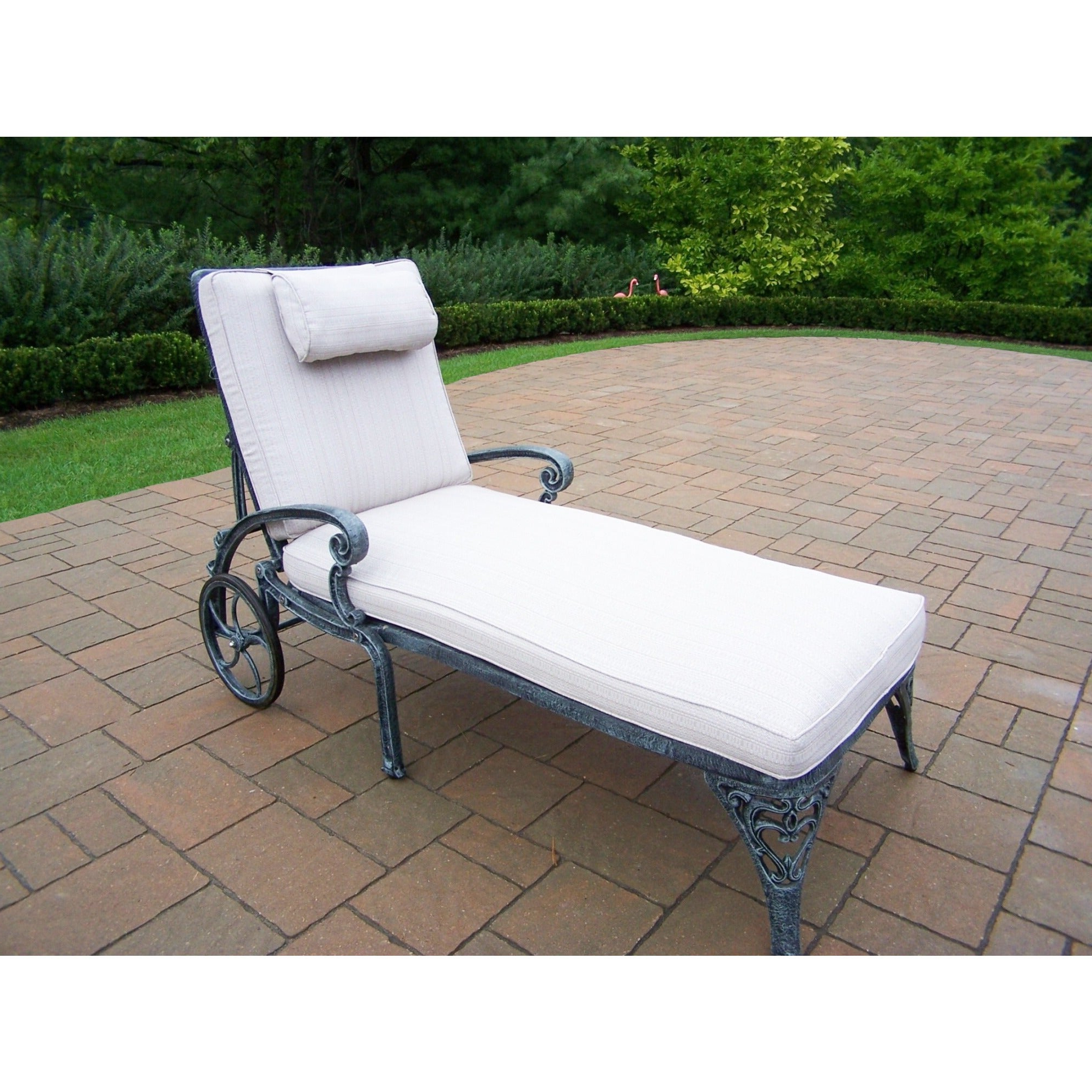 Havenside Home San Juan Cast Aluminum Grey Chaise Lounge With Cushion Pertaining To Most Popular Havenside Home Fenwick Chaise Lounge Chairs (View 7 of 25)