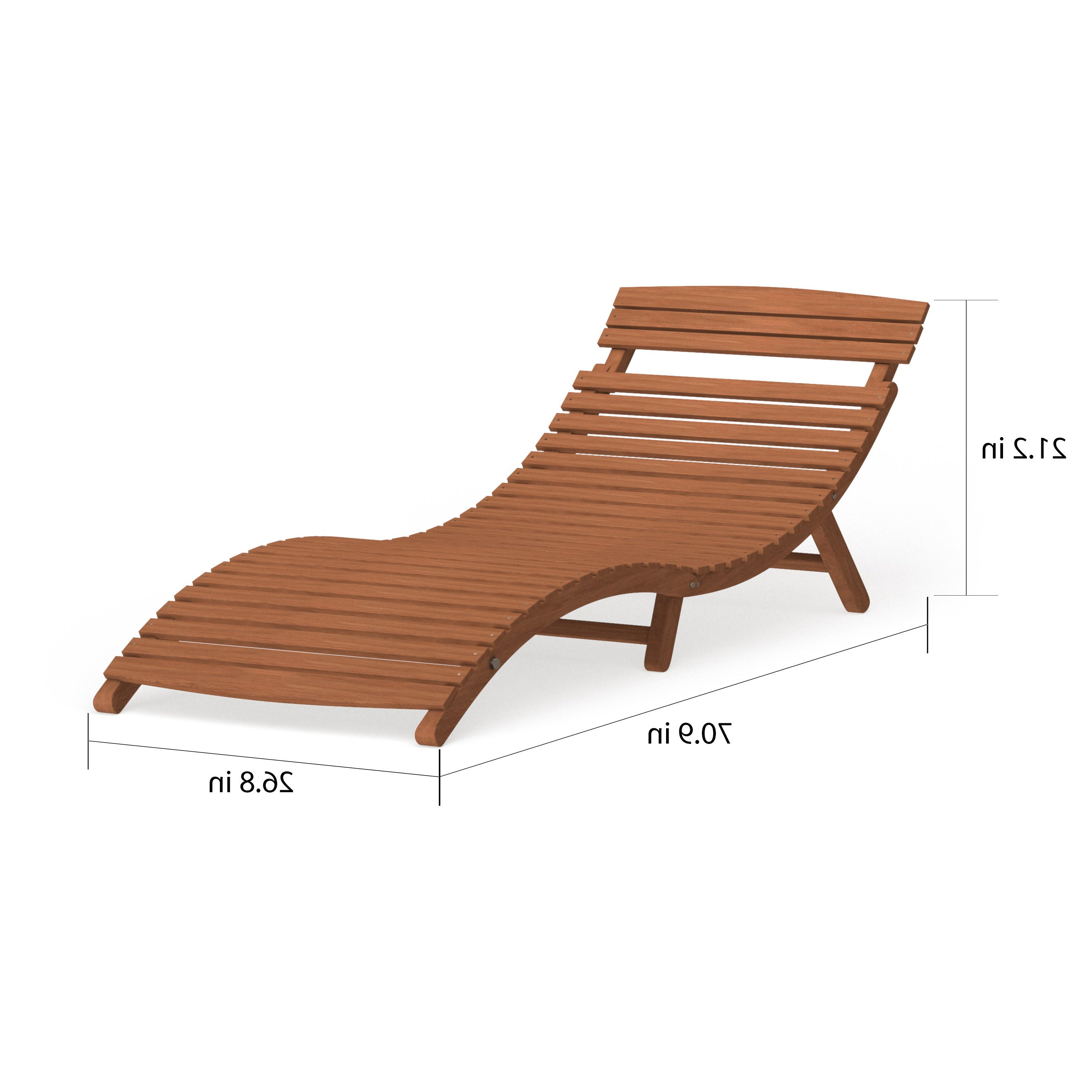Havenside Home Shi Shi Curved Folding Chaise Lounger Regarding Most Popular Curved Folding Chaise Loungers (View 3 of 25)