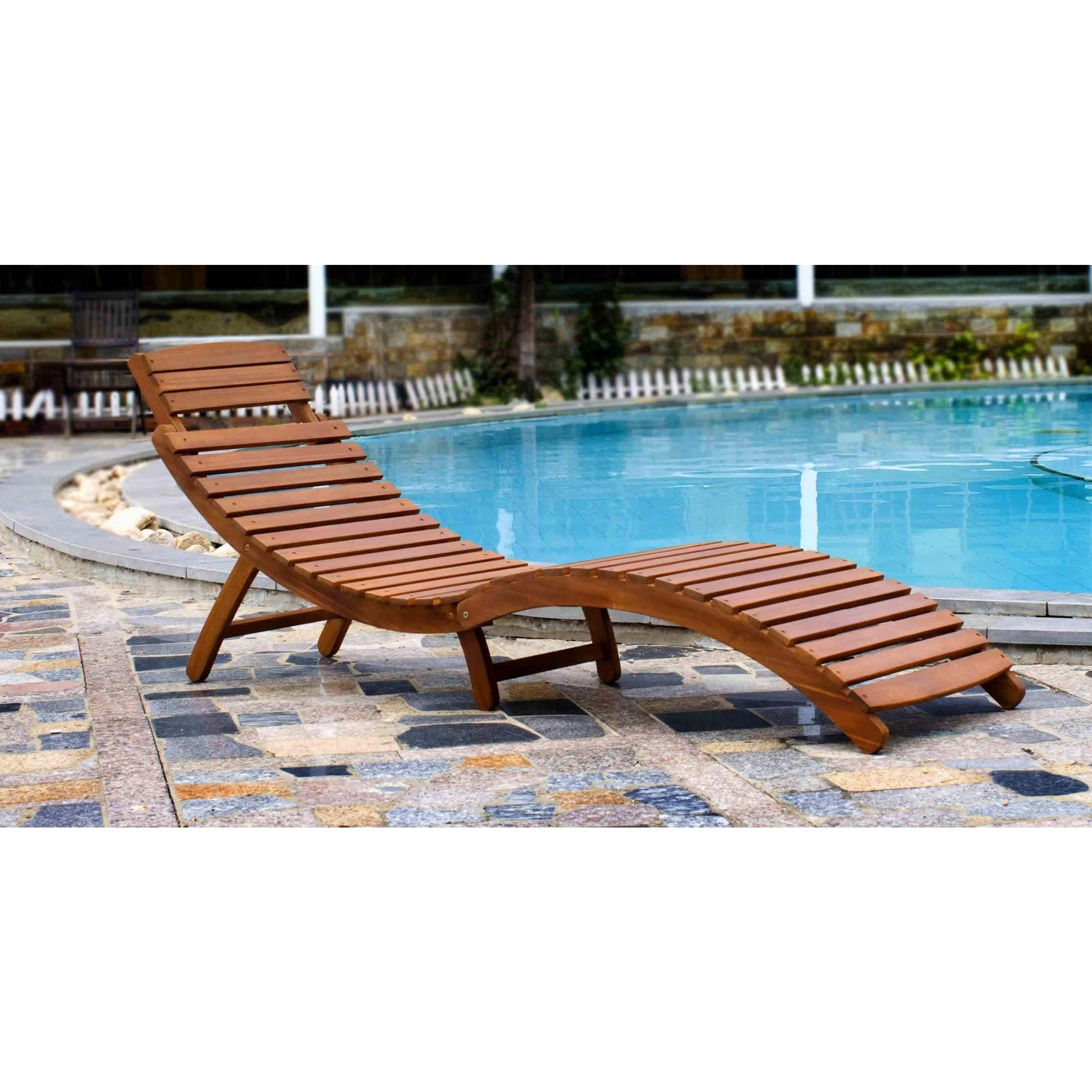 Havenside Home Shi Shi Curved Folding Chaise Lounger With Regard To Well Liked Brown Folding Patio Chaise Lounger Chairs (View 14 of 25)