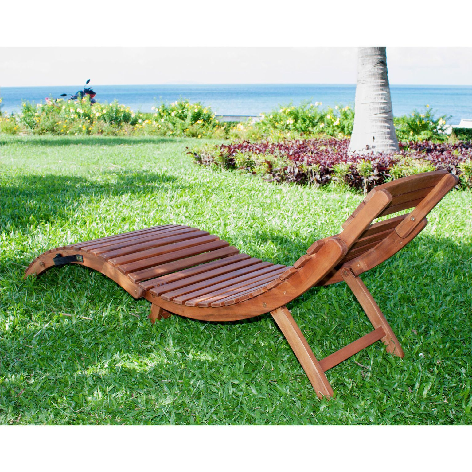 Havenside Home Shi Shi Curved Folding Chaise Lounger With Well Known Curved Folding Chaise Loungers (View 18 of 25)