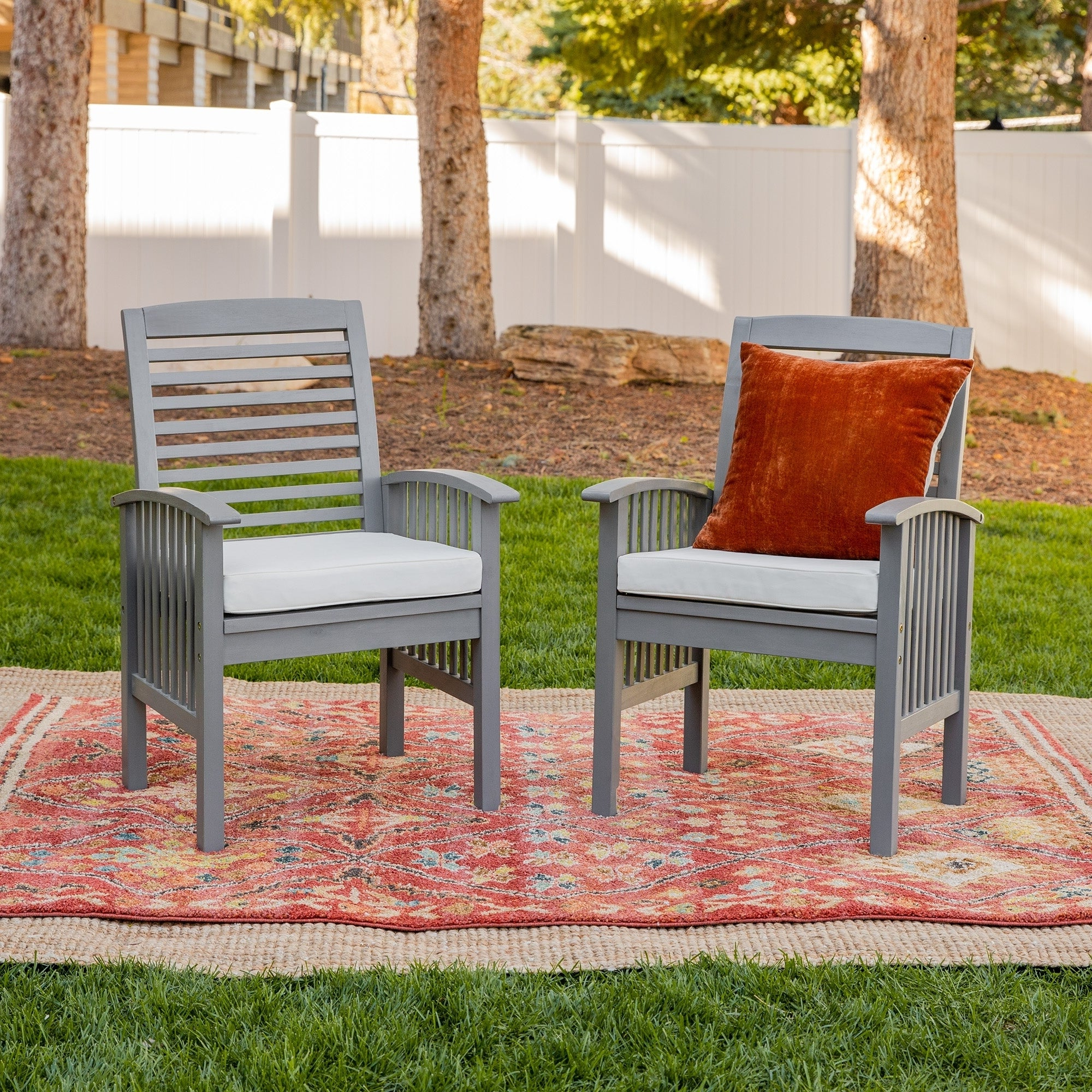 Havenside Home Surfside Dark Brown Acacia Wood Chairs (Set Of 2) – 24 X 20 X 37H Throughout Latest Havenside Home Surfside Outdoor Lounge Chairs (View 3 of 25)