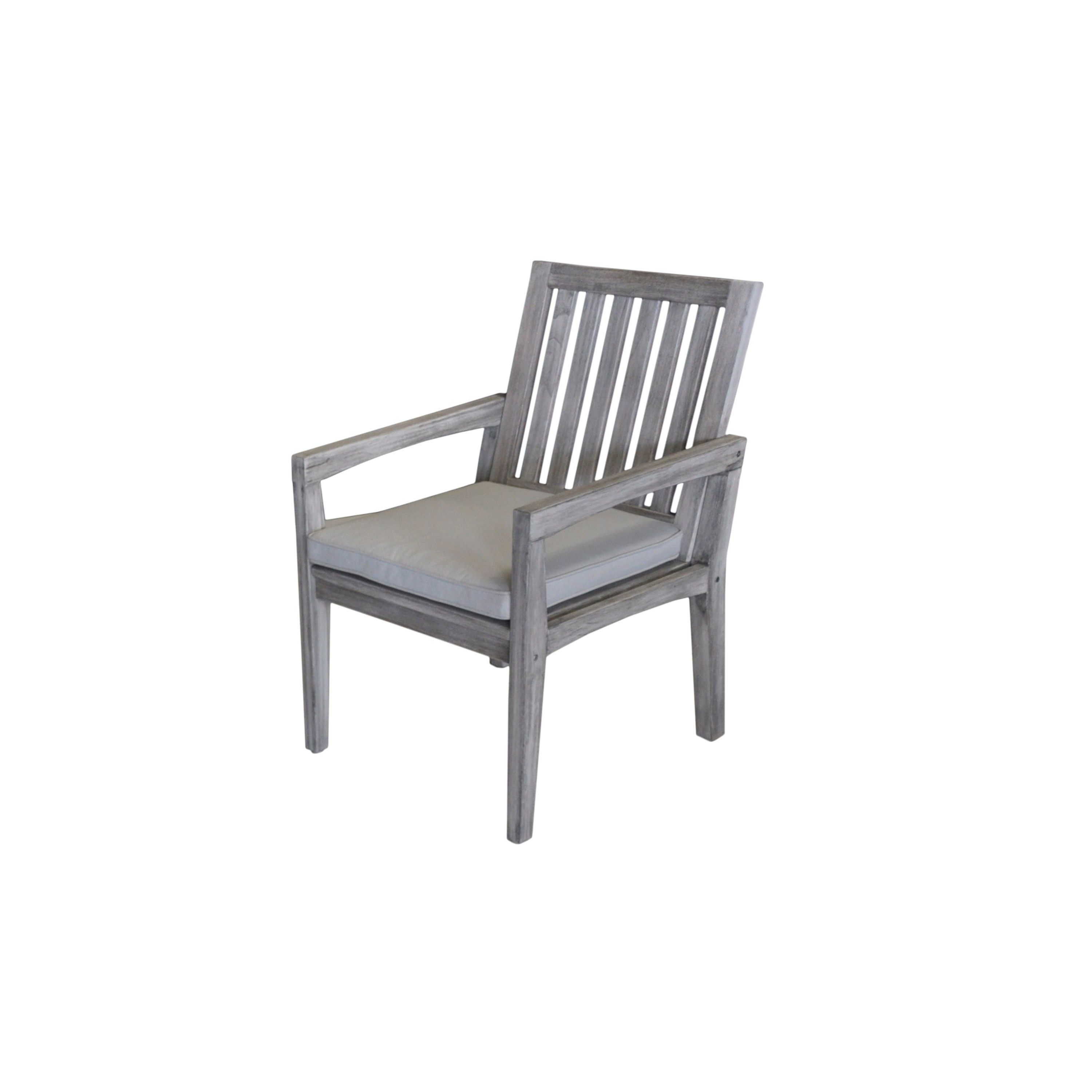 Havenside Home Surfside Outdoor Lounge Chairs Regarding Newest Havenside Home Surfside Grey Teak Outdoor Dining Chair With (View 5 of 25)