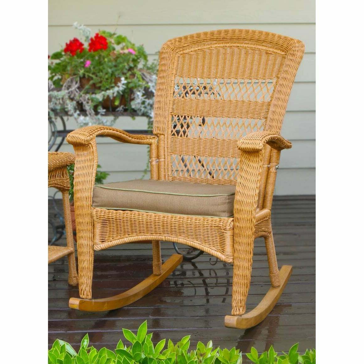 Havenside Home Surfside Outdoor Lounge Chairs Throughout 2020 Havenside Home Surfside Southwest Outdoor Rocking Chair Amber Single (View 23 of 25)