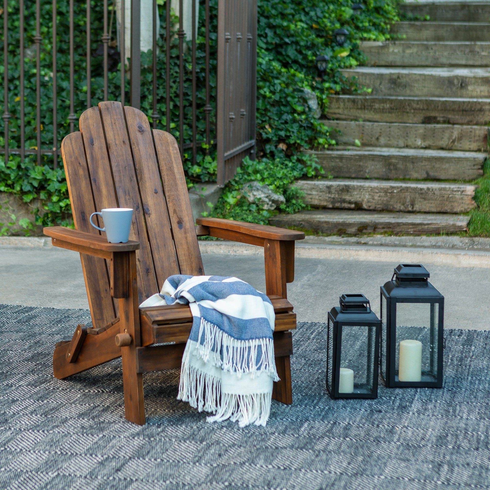 Havenside Home Surfside Outdoor Lounge Chairs With Famous Havenside Home Surfside Acacia Patio Chair – Dark Brown (View 10 of 25)