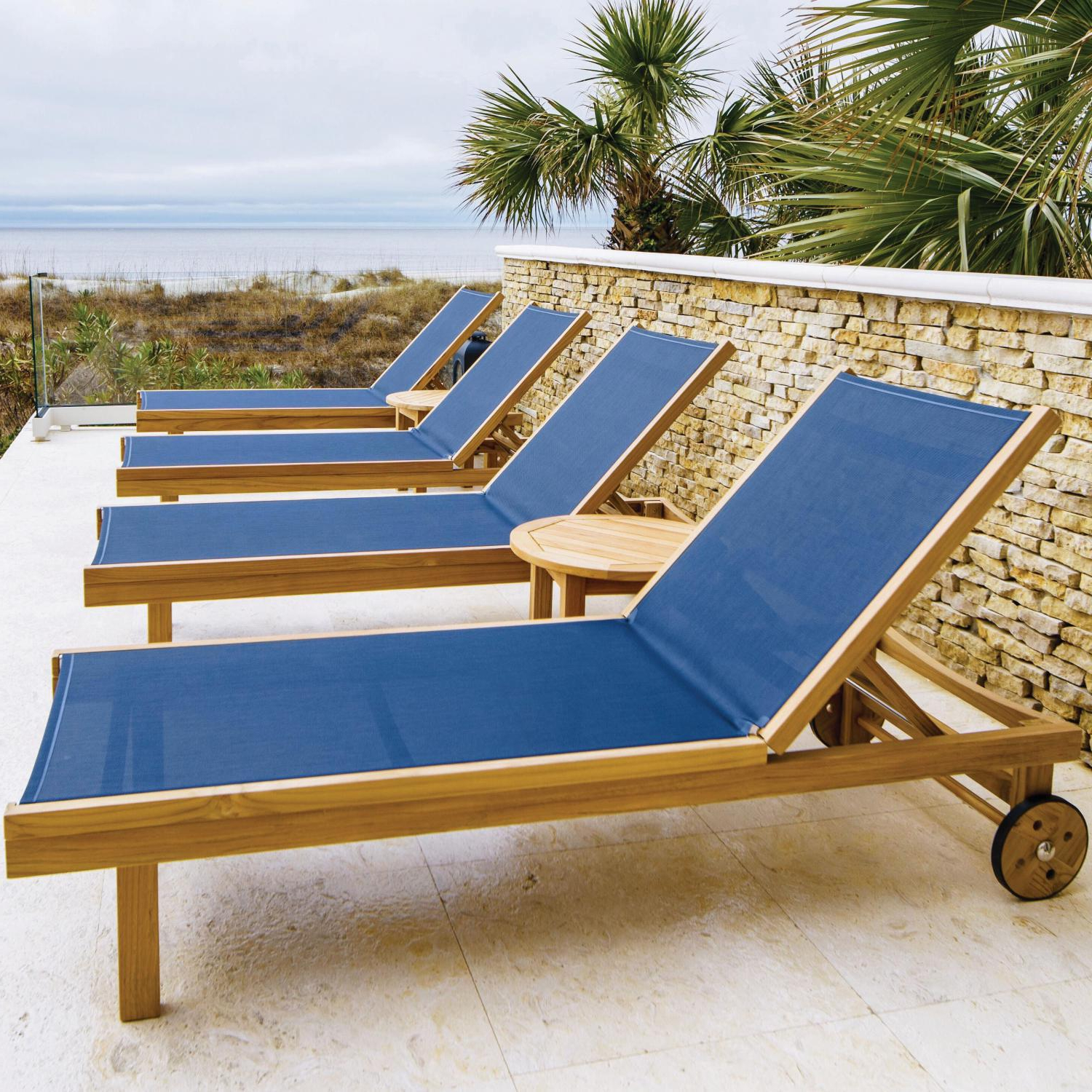 Havenside Home Surfside Rutkoske Outdoor Wood Chaise Lounges In Famous Sundaze 6 Piece Teak Patio Chaise Lounge Set W/ Round Side (View 23 of 25)
