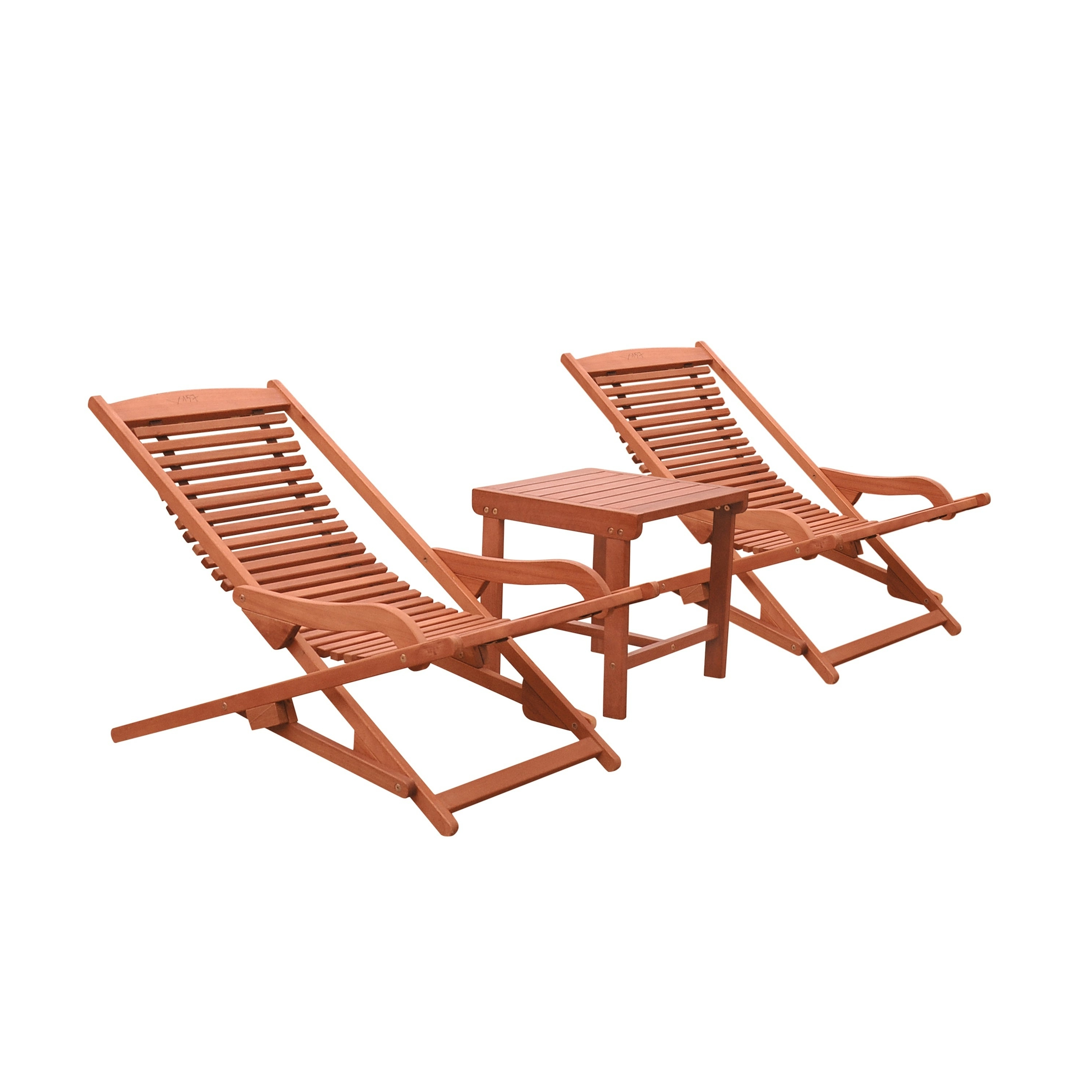 Havenside Home Surfside Wood Outdoor Patio Chaise Lounge Set Regarding 2019 Havenside Home Surfside Relaxer Chaise Lounges (View 14 of 25)
