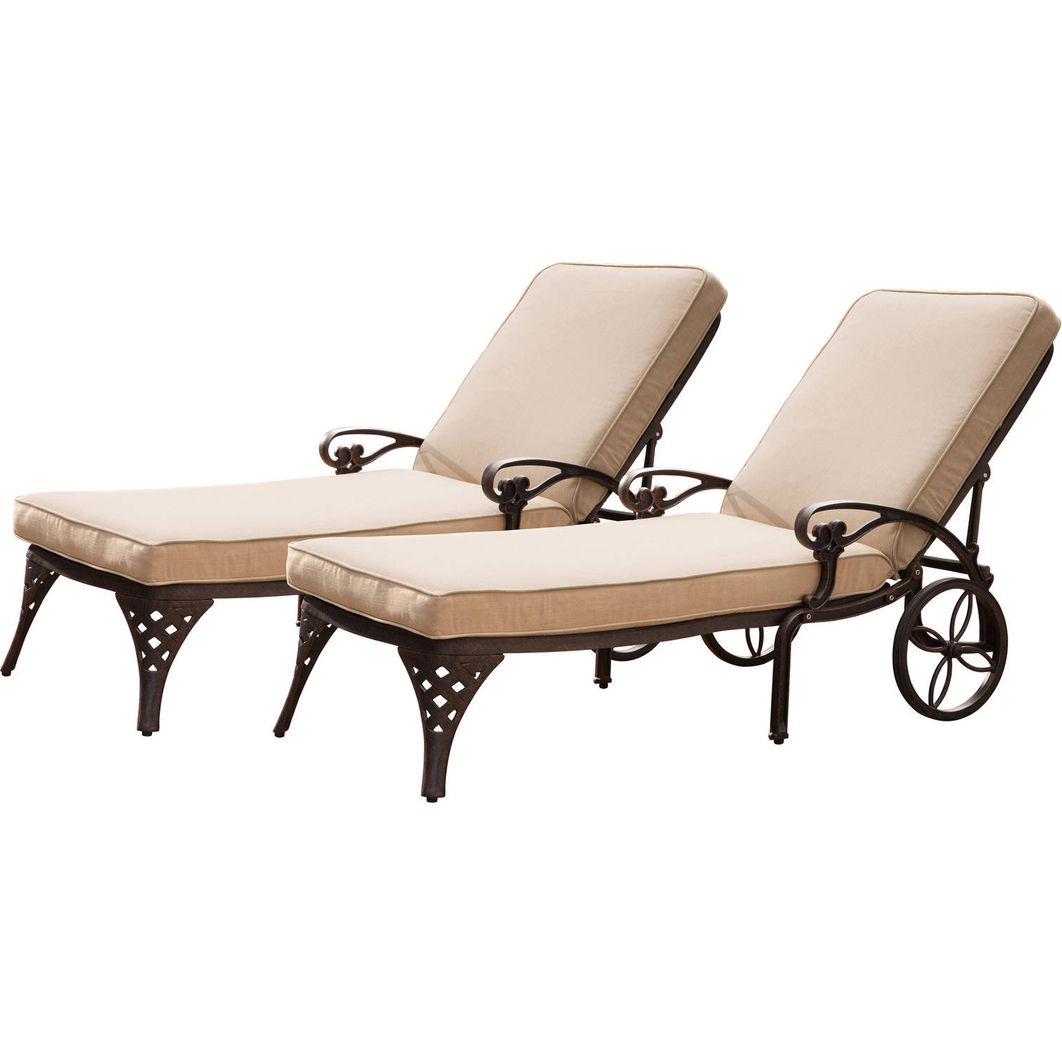 Home Styles Floral Blossom Outdoor Chaise Lounge Chair With Cushion,  Charcoal Regarding Widely Used Floral Blossom Chaise Lounge Chairs With Cushion (View 19 of 25)