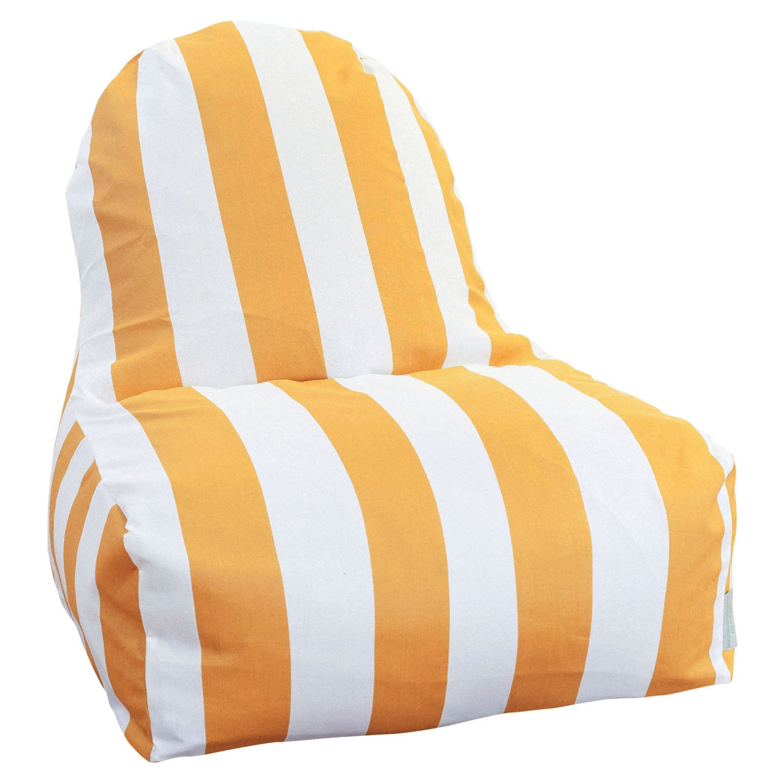 Indoor/outdoor Vertical Stripe Bean Bag Chair Loungers Pertaining To Most Popular Majestic Home Goods Vertical Stripe Indoor / Outdoor Kick It (Gallery 6 of 25)