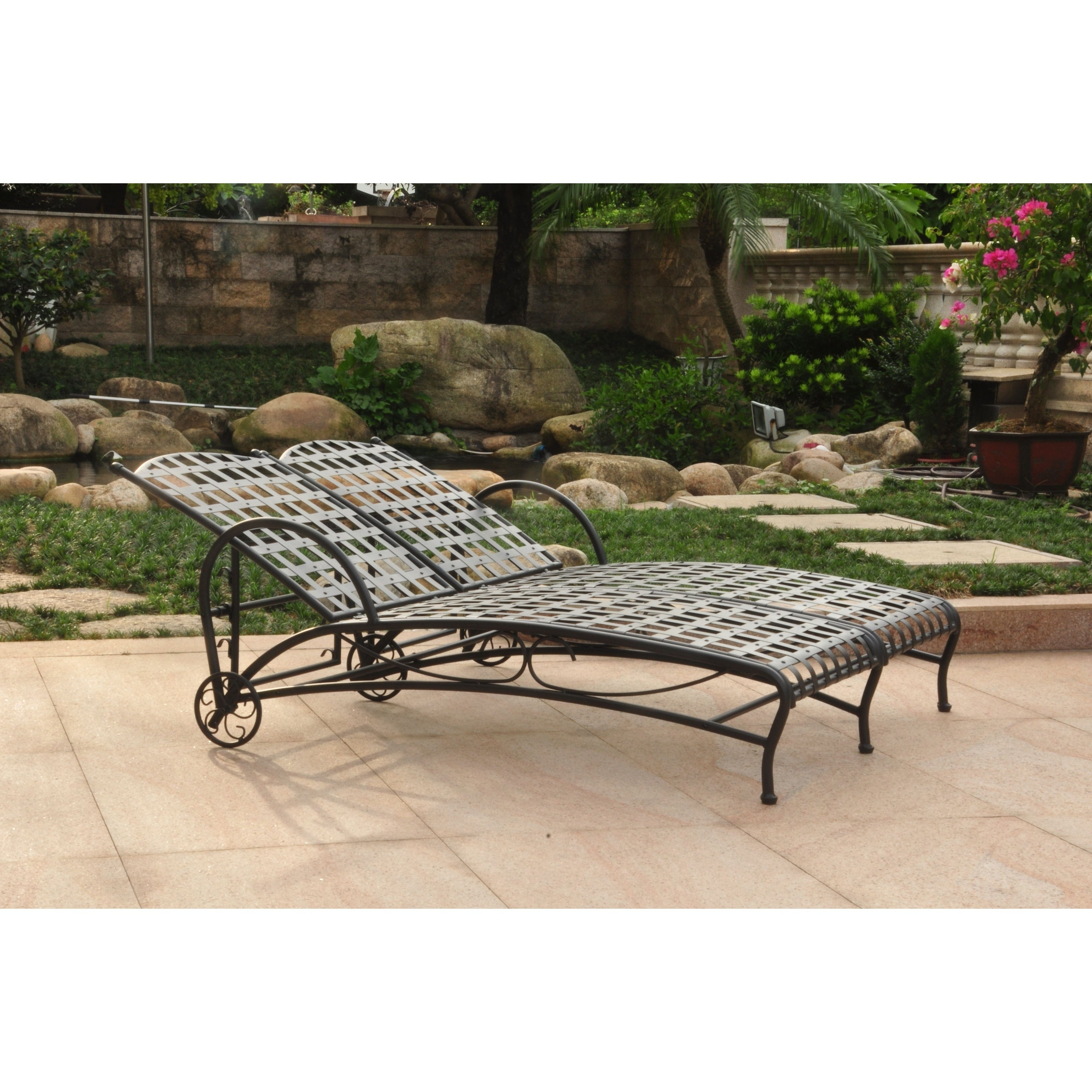 International Caravan Santa Fe Double Multi Position Patio Chaise Throughout Trendy Resin Wicker Multi Position Double Patio Chaise Lounges (View 8 of 25)