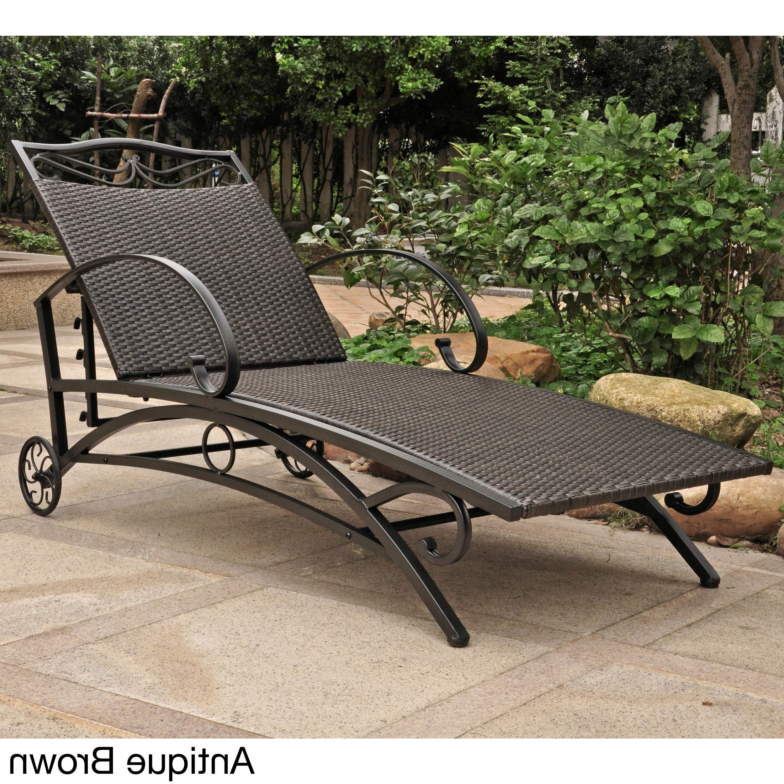 International Caravan Valencia Resin Wicker/ Steel Frame For Current Resin Wicker Aluminum Multi Position Chaise Lounges (View 10 of 25)