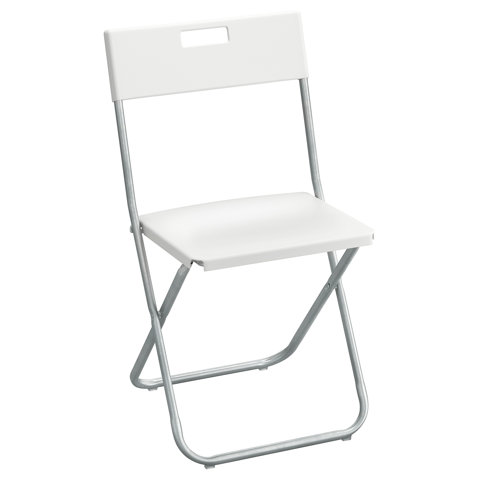 Iron Frame Locking Portable Folding Chairs Intended For Best And Newest Folding Chair Gunde White (View 11 of 25)