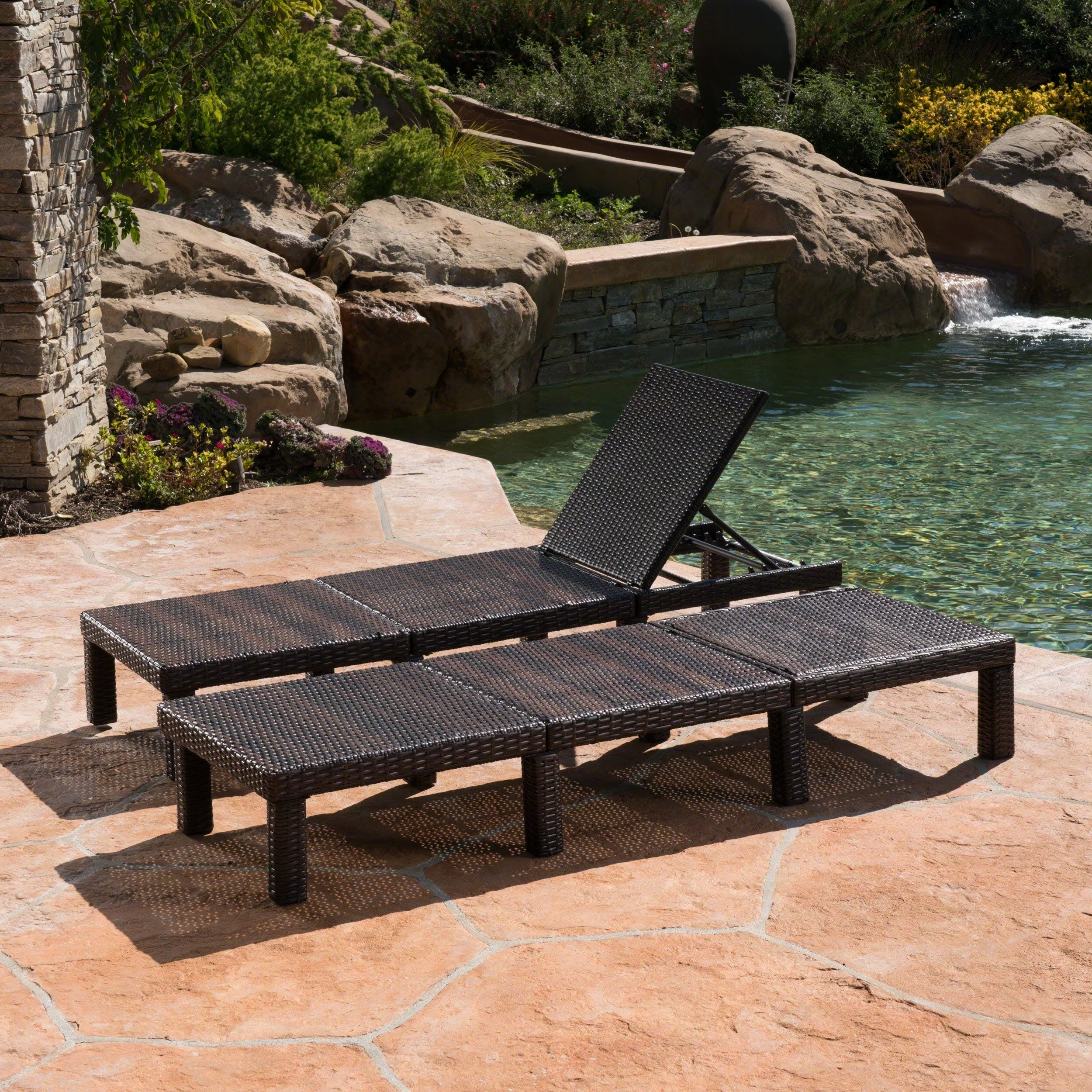 Jamaica Outdoor Chaise Lounge (Set Of 2)Christopher Knight Home Within Most Recently Released Jamaica Outdoor Chaise Lounges (Gallery 7 of 25)