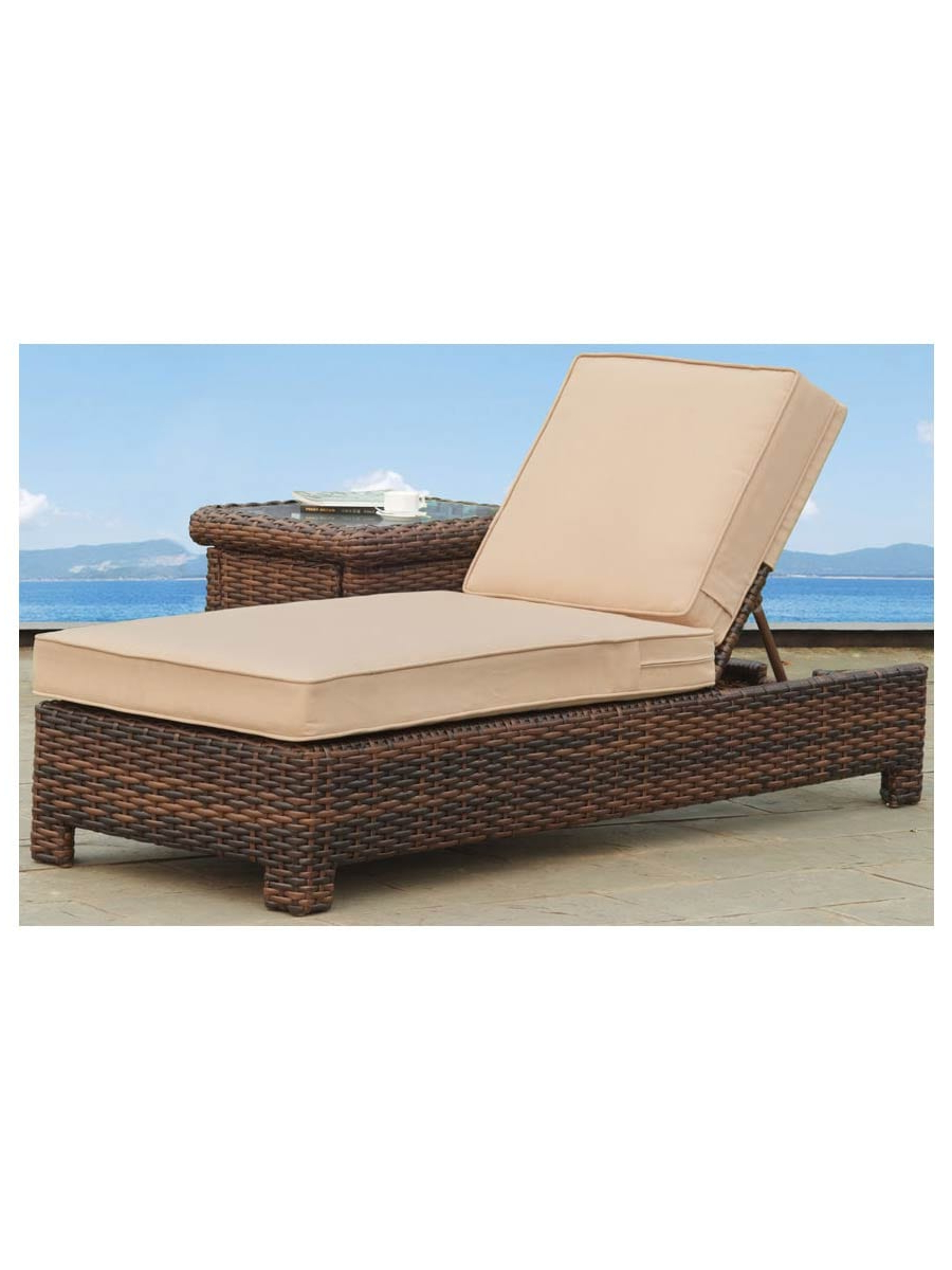 Jamaica Outdoor Wicker Chaise Lounges With Cushion In Well Known Bermuda Wicker Chaise Lounge (Gallery 19 of 25)