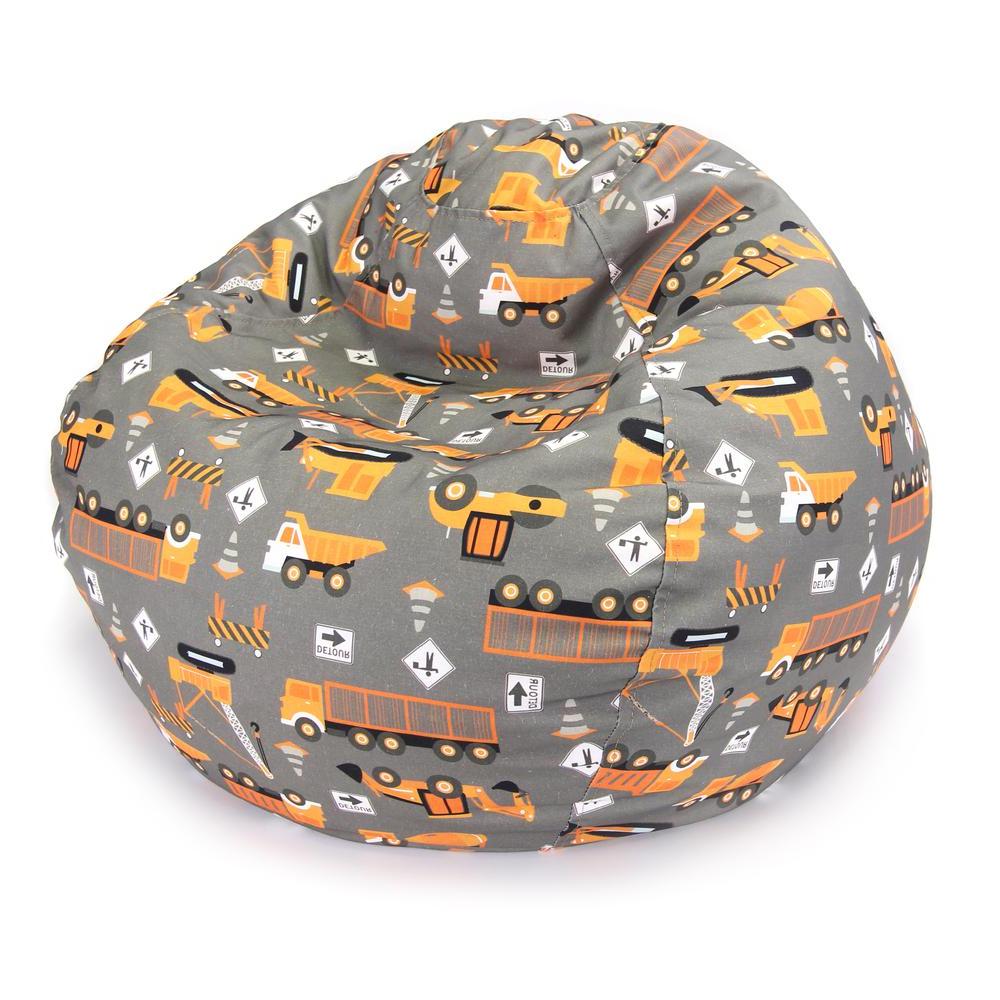 Junior Print Bean Bags, Multi Colorjordan Manufacturing In Fashionable Jaxx Twist Outdoor Patio Bean Bag Chairs (View 23 of 25)