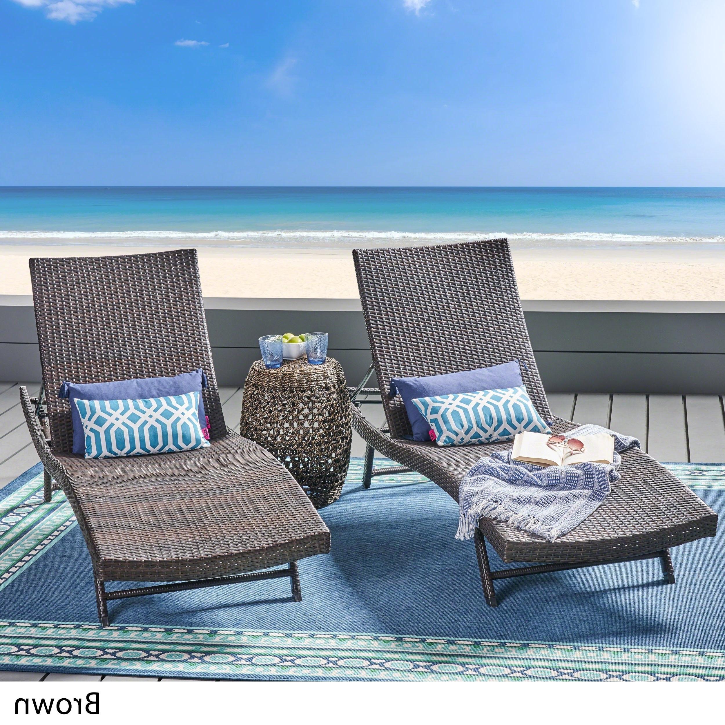 Kauai Outdoor Wicker Chaise Lounge (Set Of 2)Christopher Knight Home Inside Preferred Kauai Outdoor Wicker Chaise Lounges (View 5 of 25)