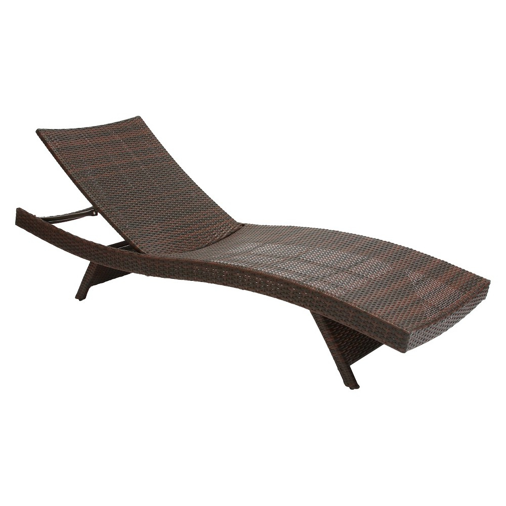 Kauai Outdoor Wicker Chaise Lounges Inside 2019 Kauai Wicker Chaise Lounge – Brown – Christopher Knight Home (View 7 of 25)