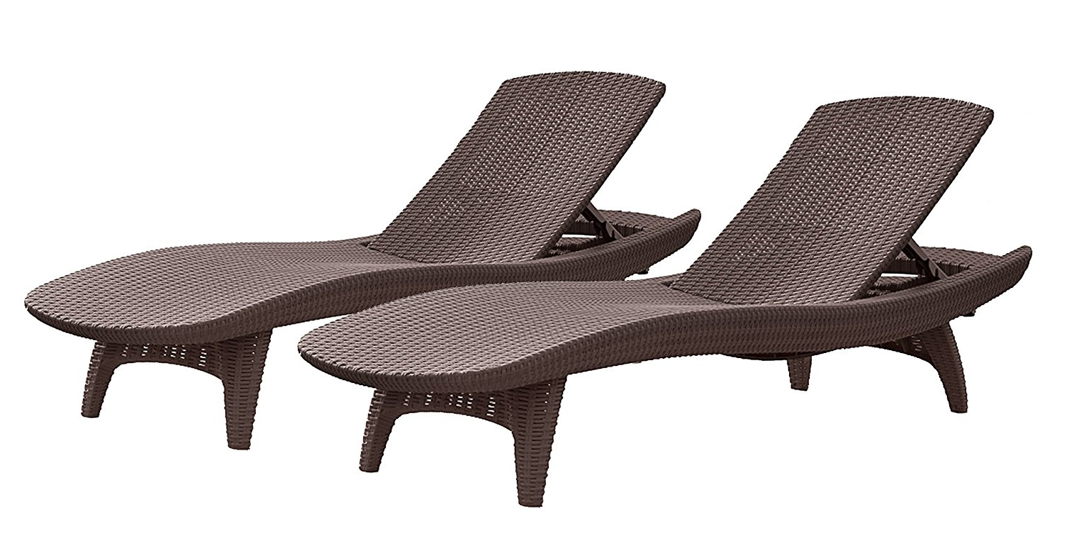 Kauai Outdoor Wicker Chaise Lounges Pertaining To Most Popular Einnehmend Tangkula Wicker Chaise Lounge Chair Cushion (View 11 of 25)
