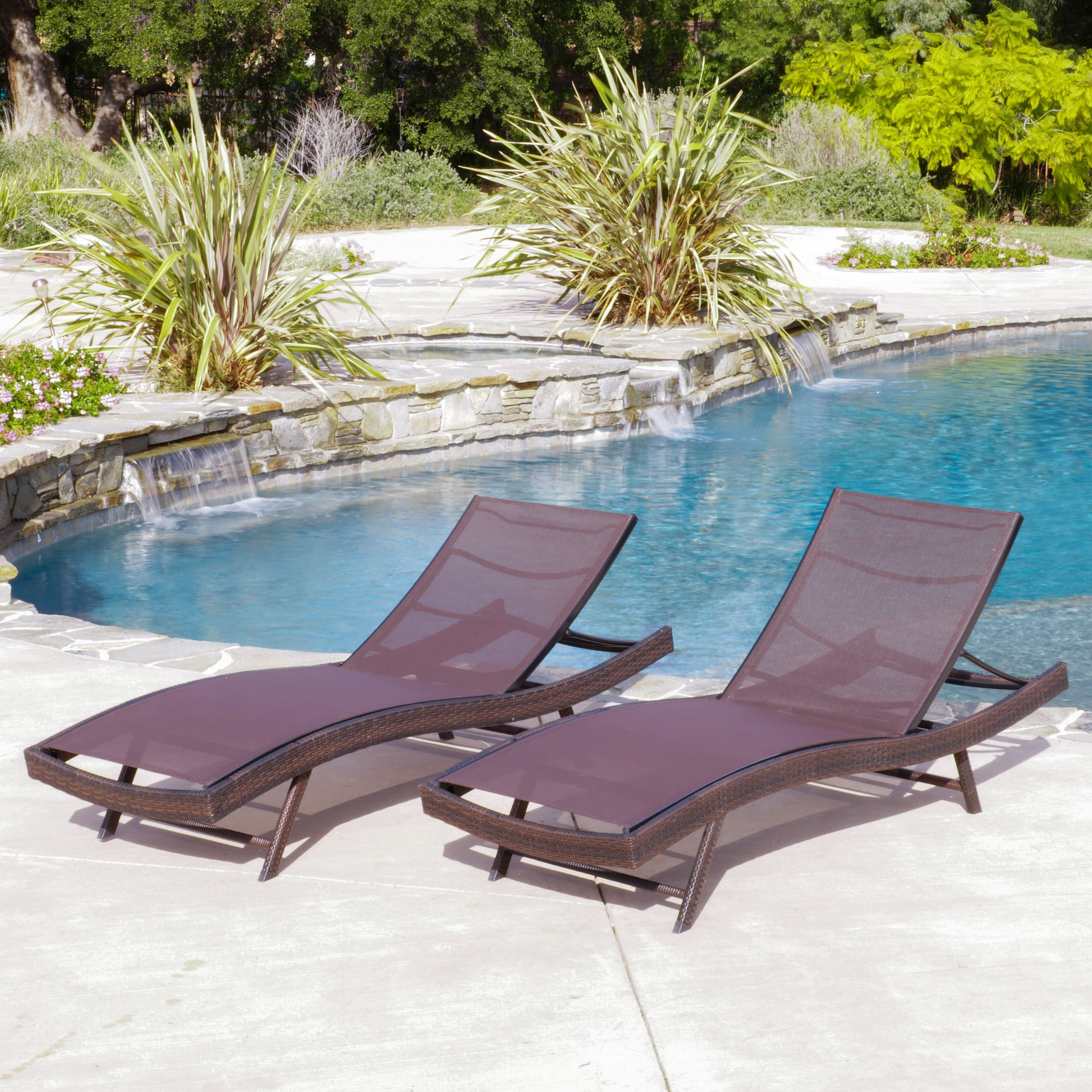 Kauai Outdoor Wicker Chaise Lounges With Regard To Best And Newest Christopher Knight Home Kauai Outdoor Chaise Lounge (set Of 2) (View 21 of 25)