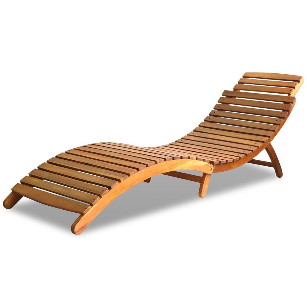 Latest Akazie Sonnenliege Holzliege Liegestuhl Gartenliege Inside Havenside Home Ormond Outdoor Hardwood Sun Loungers With Tray (View 16 of 25)