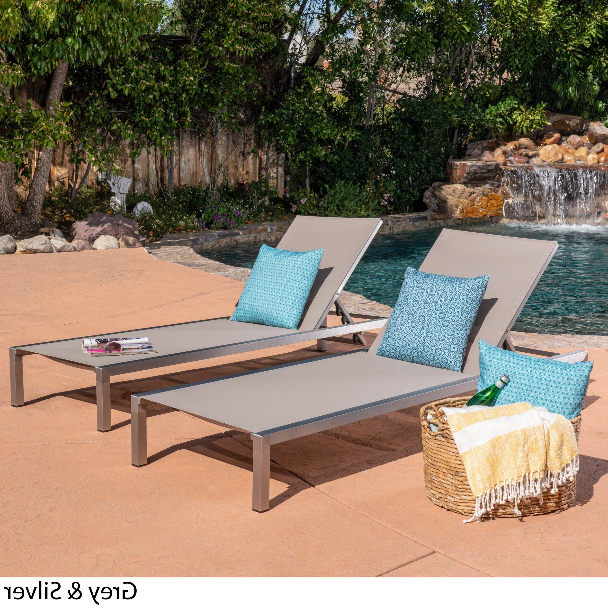 Latest Cape Coral Outdoor Chaise Lounges With Cushion Within Navan Outdoor Chaise Lounge (set Of 2)christopher Knight Home (View 18 of 25)