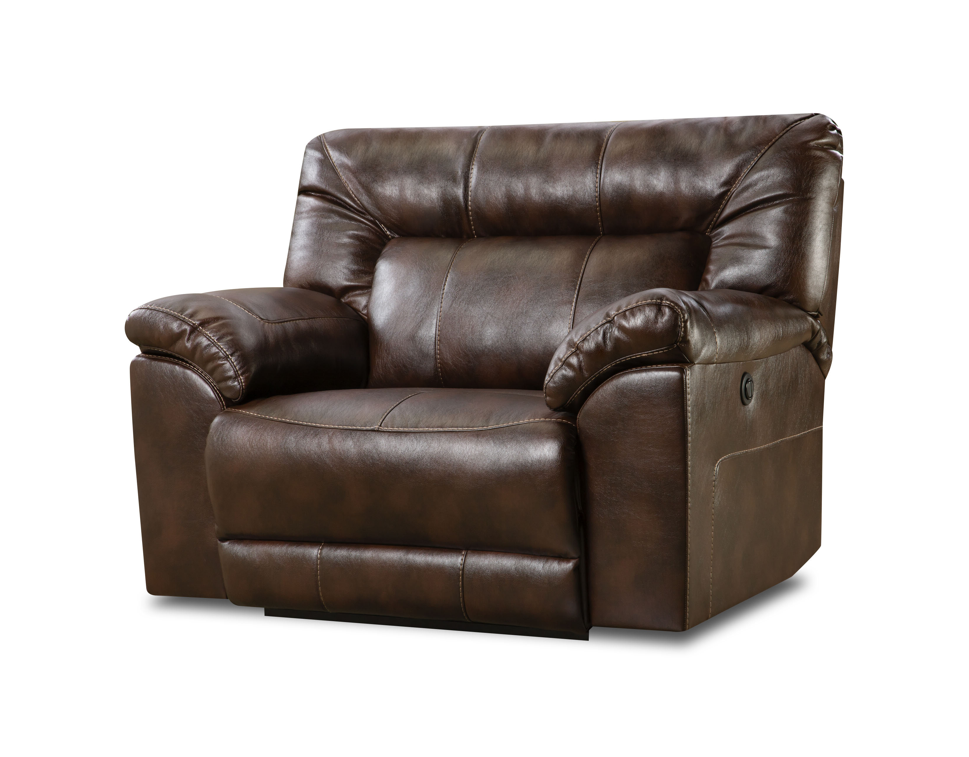 Latest Darby Home Co Colwyn Leather Recliner & Reviews (View 17 of 25)