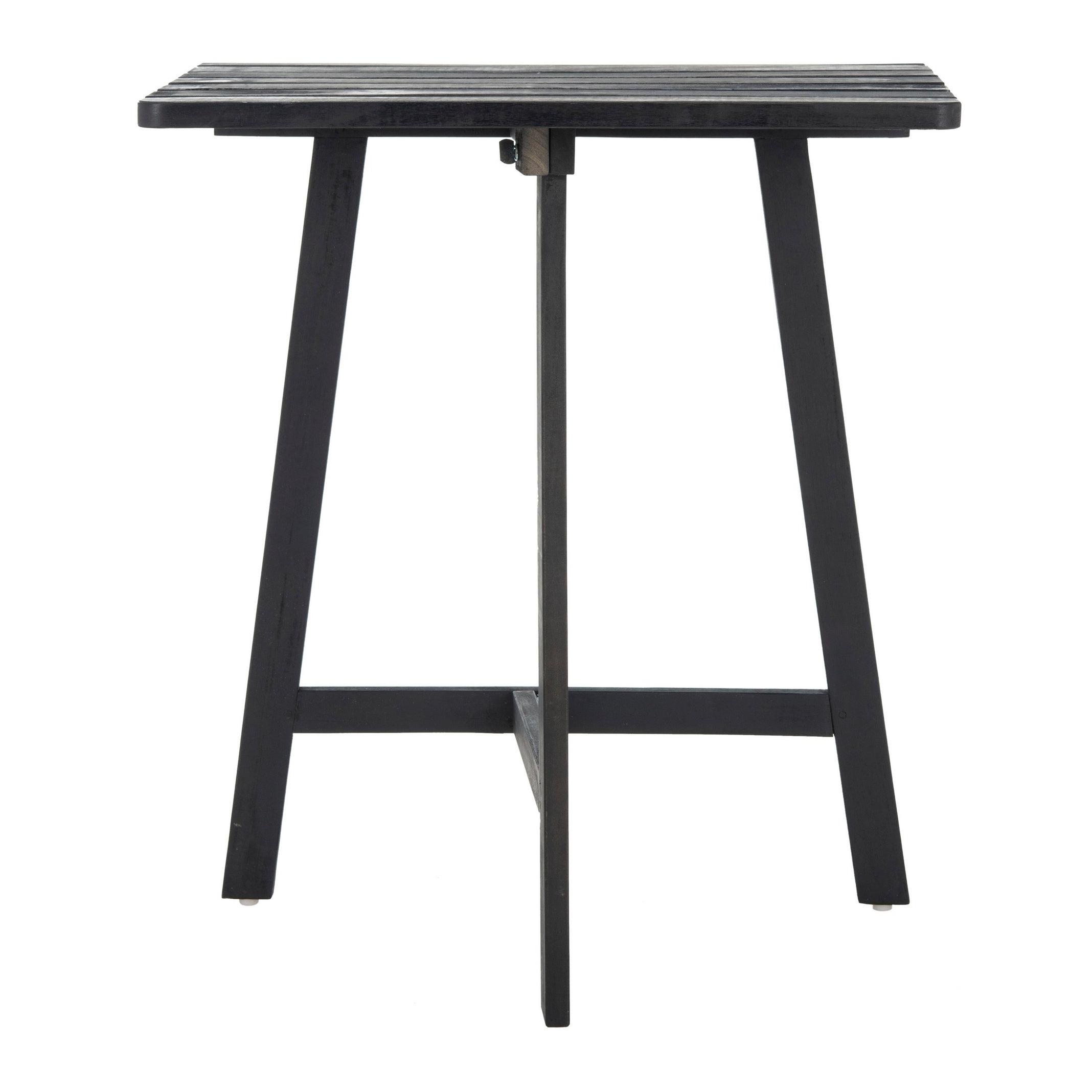 Latest Details About Safavieh Outdoor Living Benton Balcony Table – Dark Slate Dark Slate Gray (View 11 of 25)