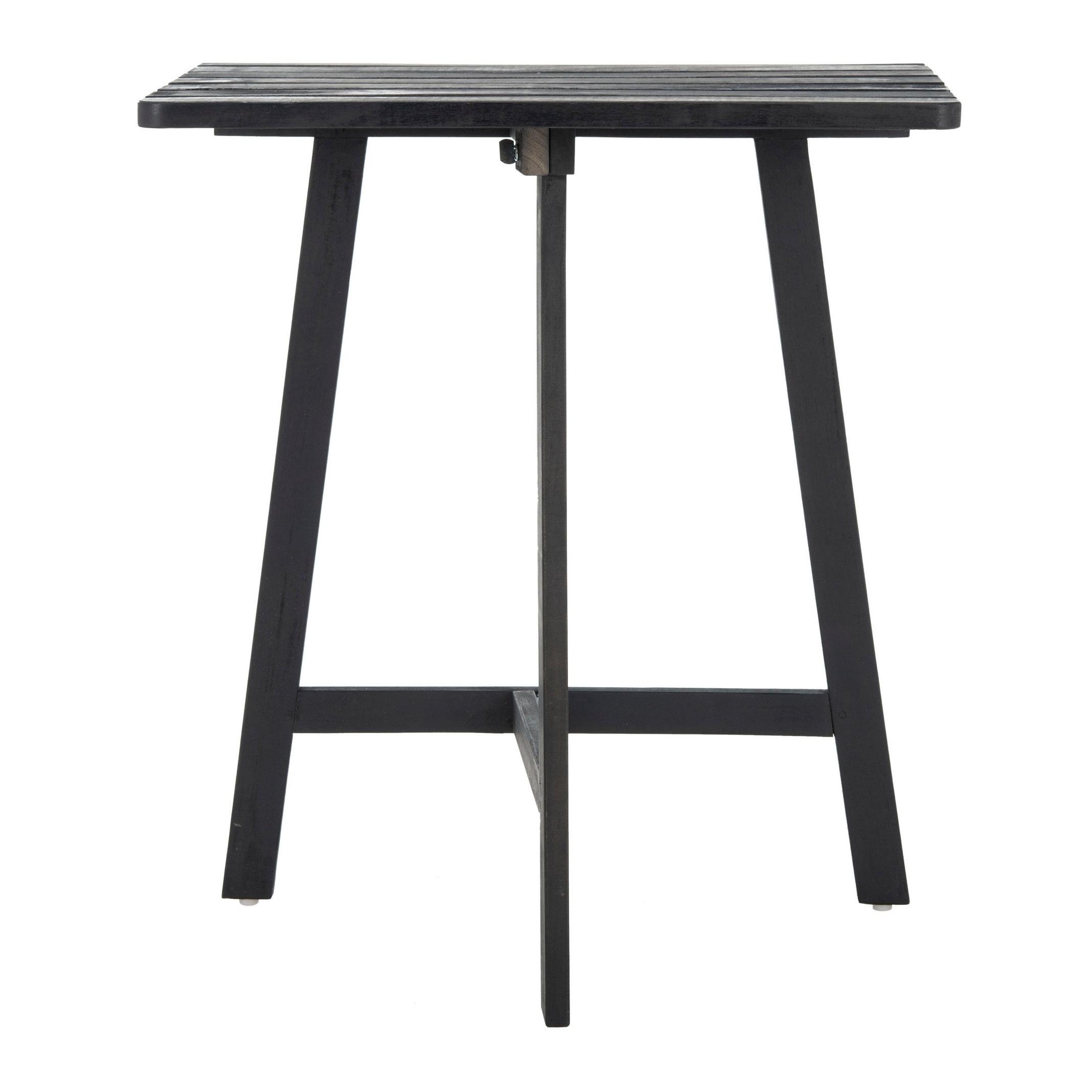 Latest Details About Safavieh Outdoor Living Benton Balcony Table – Dark Slate  Dark Slate Gray  (View 5 of 25)