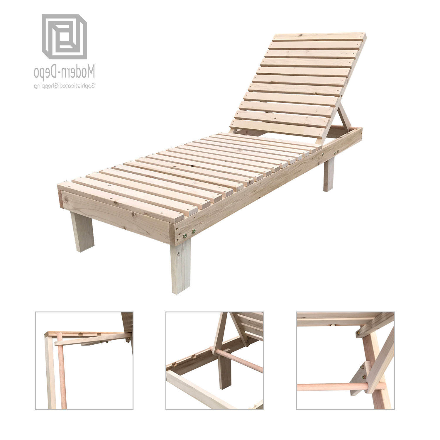 Latest Outdoor Adjustable Wood Chaise Lounges In Details About Patio Spa Pool Wooden Chaise Lounge Adjustable Chair Outdoor Garden Furniture (View 20 of 25)