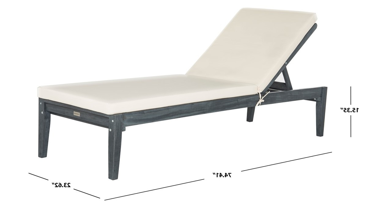 Latest Pat6729B Outdoor Chaise Loungers – Furnituresafavieh In Outdoor Living Pomona Loungers (View 6 of 25)