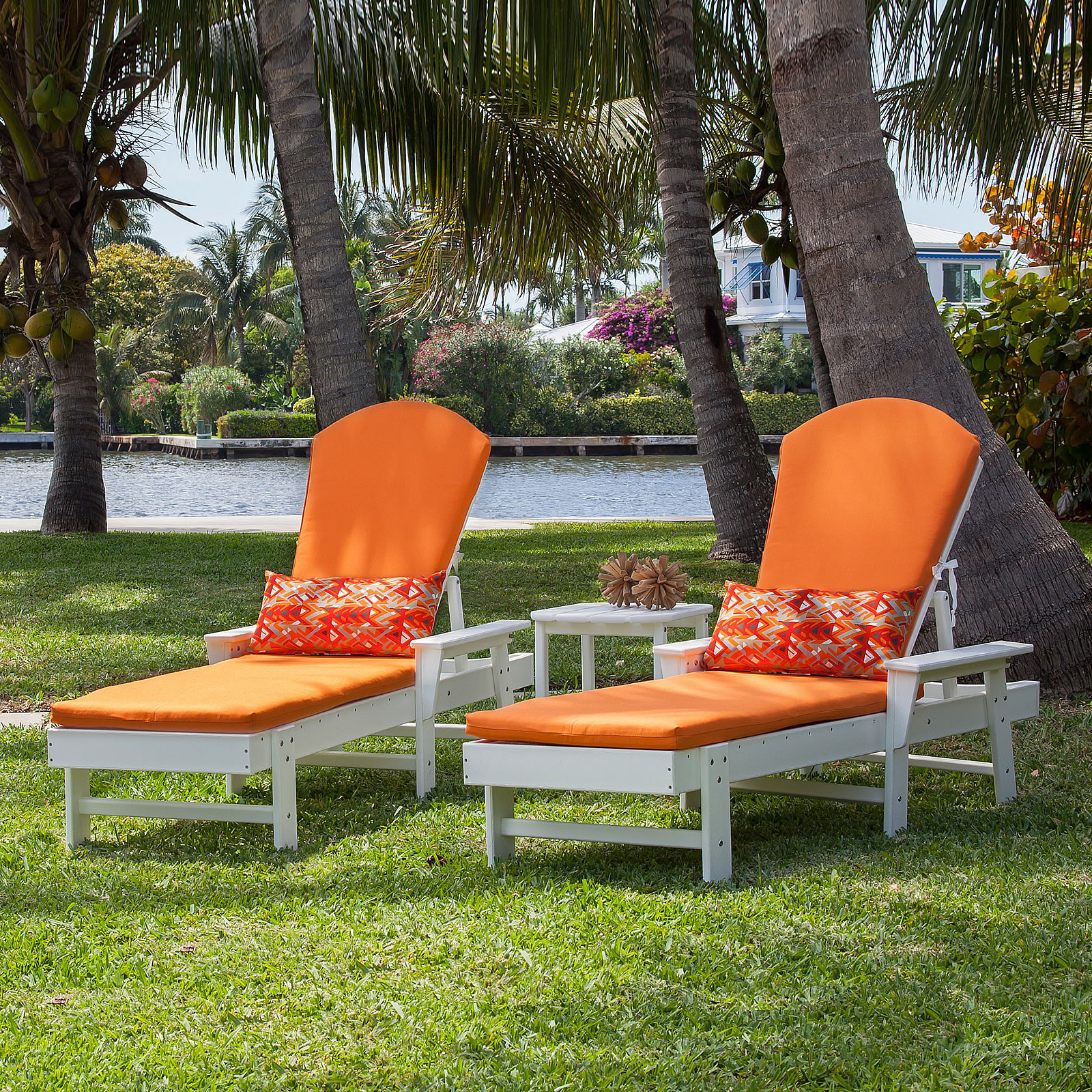 Latest Polywood® South Beach Chaise Set With Cushions Throughout South Beach Chaise Lounges (Gallery 22 of 25)