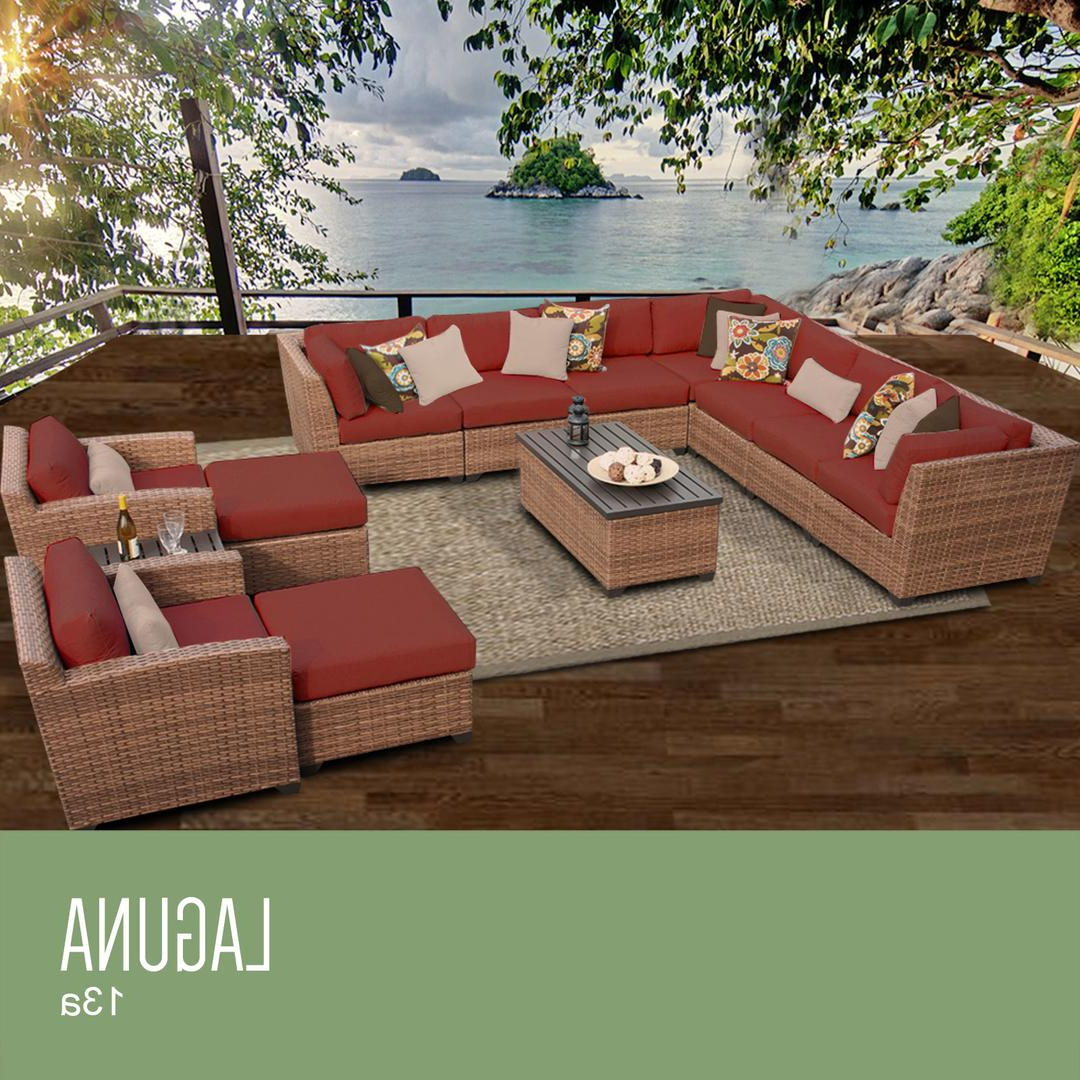 Latest Tk Classics Laguna13aterracotta Inside Outdoor 13 Piece Wicker Patio Sets With Cushions (View 24 of 25)