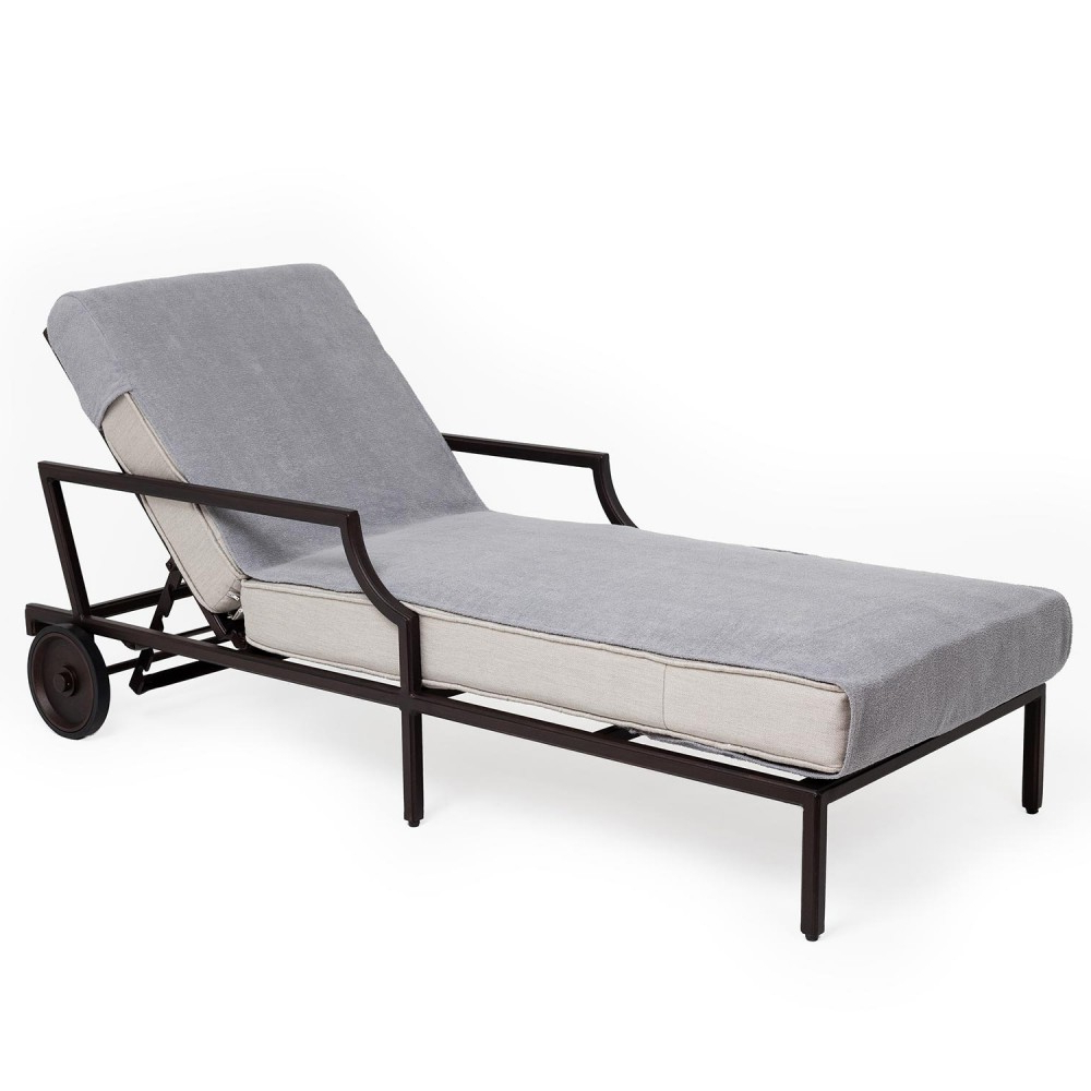Linum Towels Standard Size Chaise Lounge Cover Grey Cast With Favorite Standard Size Chaise Lounge Chairs (View 7 of 25)