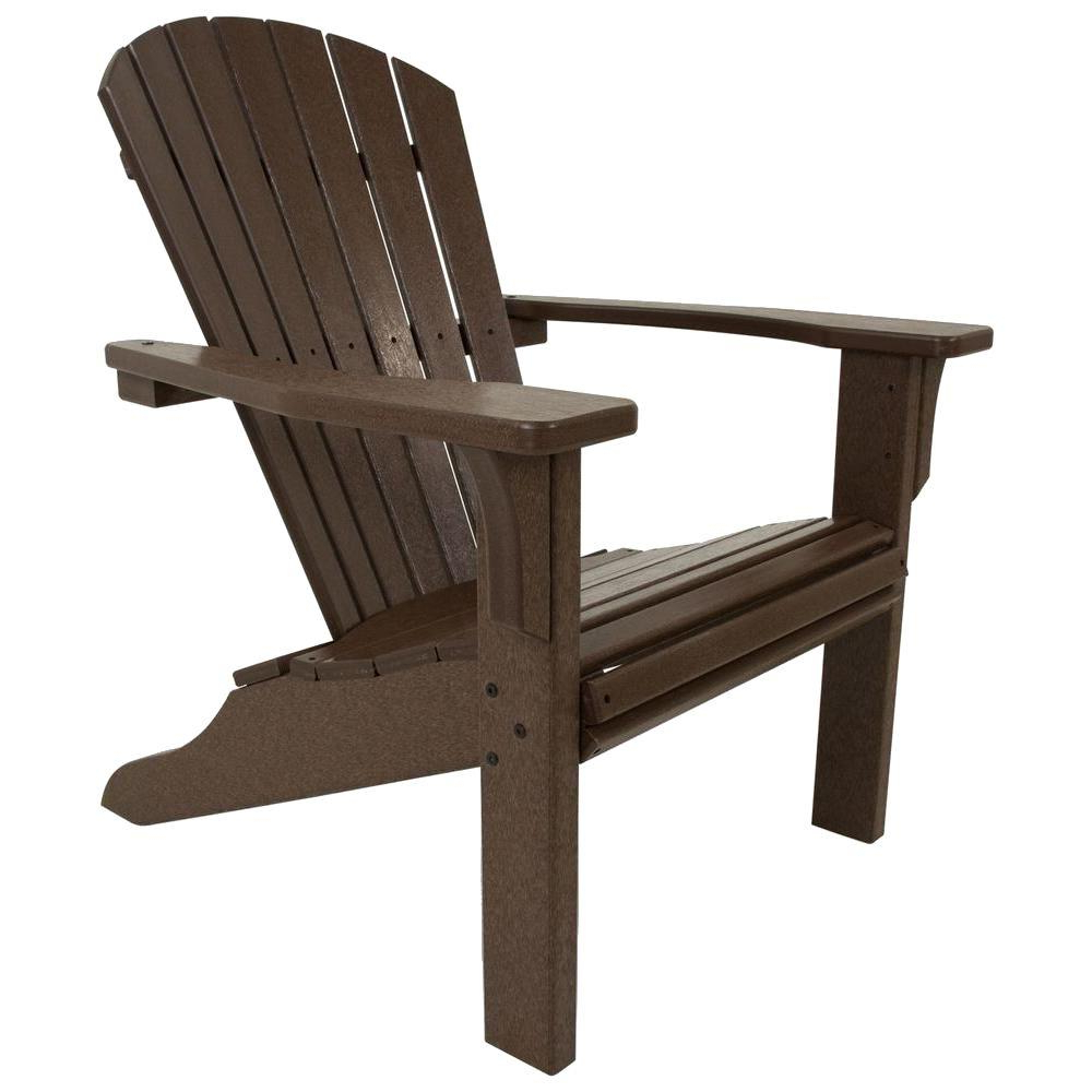 Mahogany Adirondack Chairs With Ottoman In Fashionable Polywood Seashell Mahogany Plastic Patio Adirondack Chair (View 11 of 25)