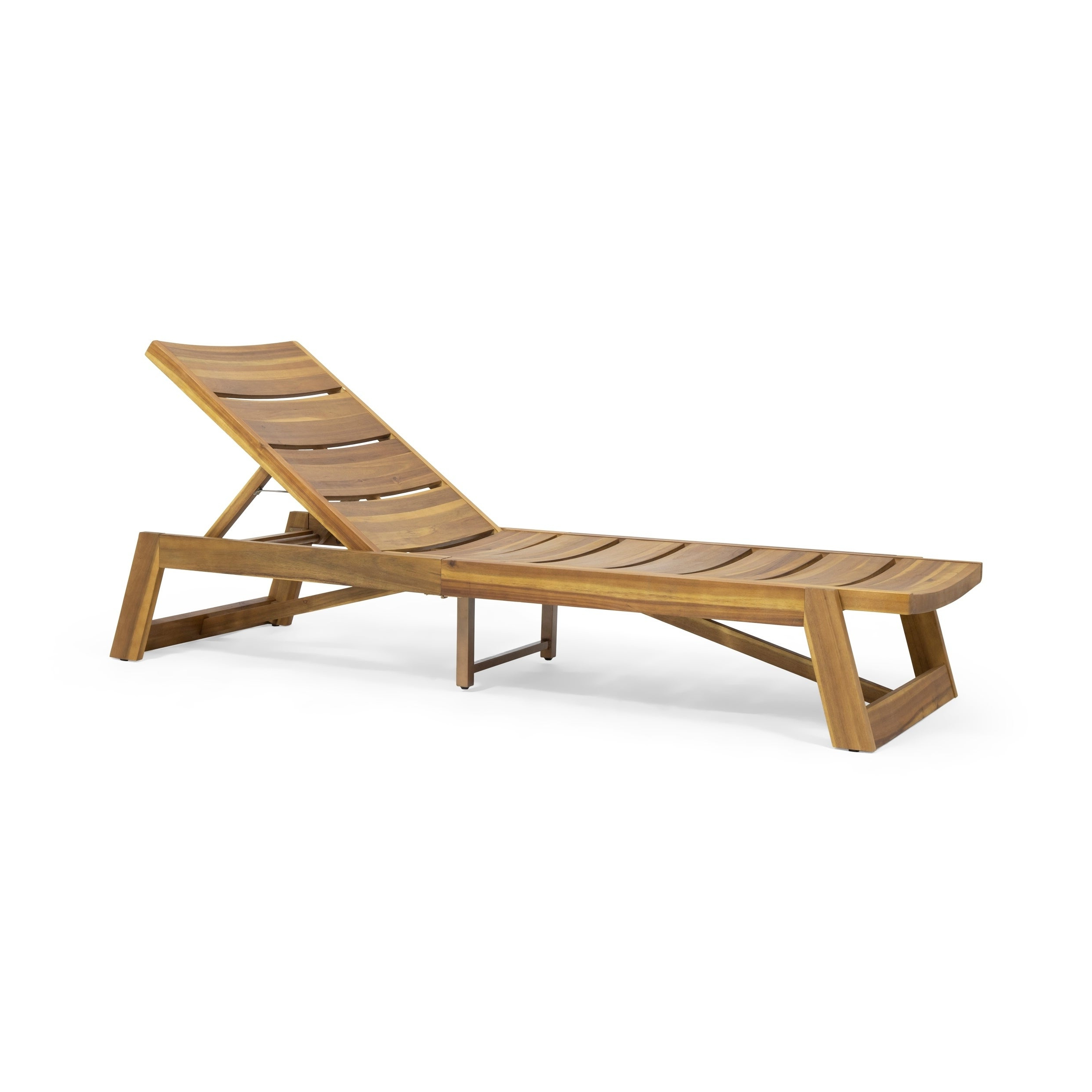 Featured Photo of Maki Outdoor Wood Chaise Lounges