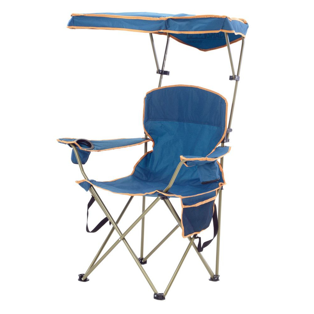 Max Shade Folding Chair – Navy Within Well Known Mesh Fabric With Steel Frame Chairs With Canopy And Tray (Gallery 6 of 25)