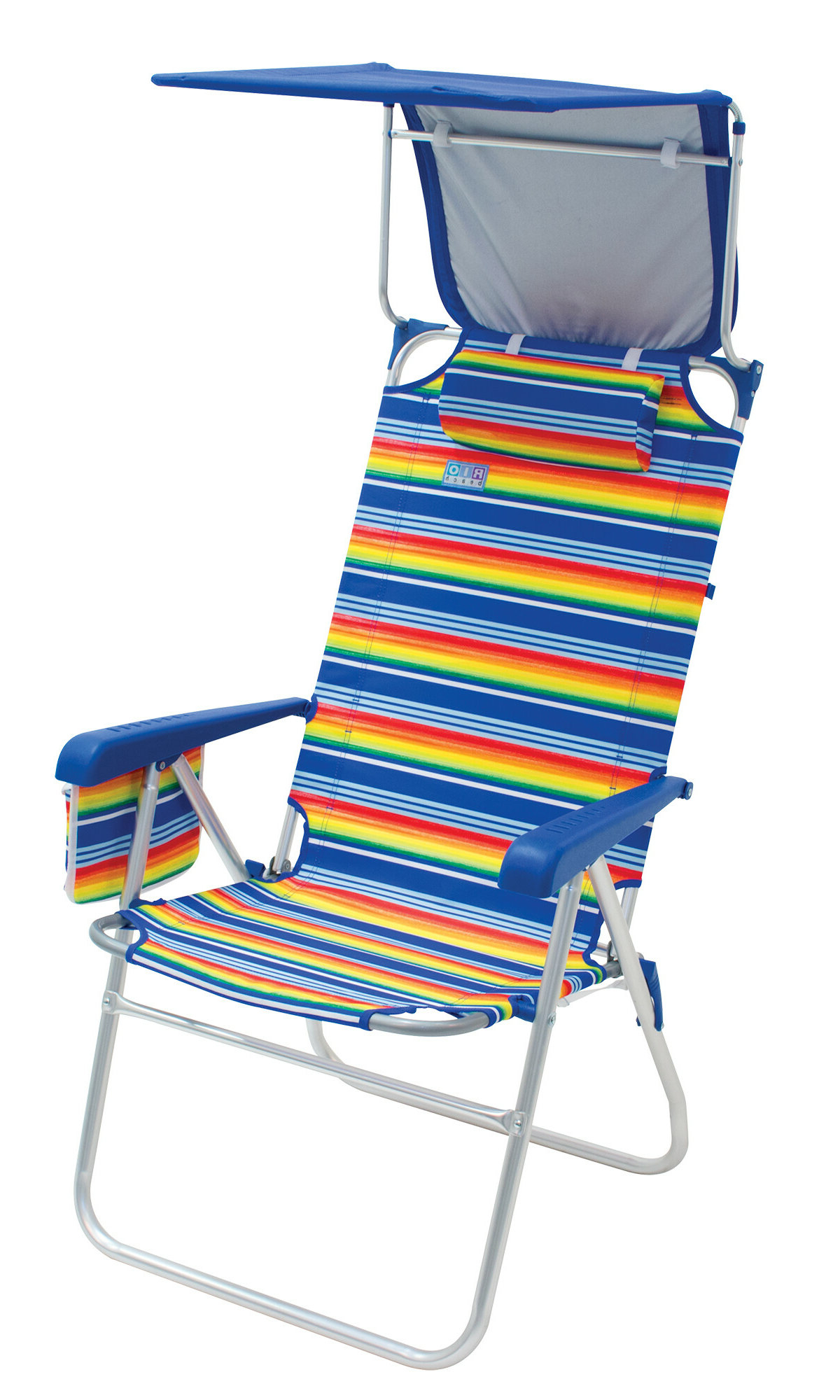 Mesh Fabric With Steel Frame Chairs With Canopy And Tray Regarding Most Recently Released Beach Chair Canopy Beach & Lawn Chairs You'll Love In (View 18 of 25)