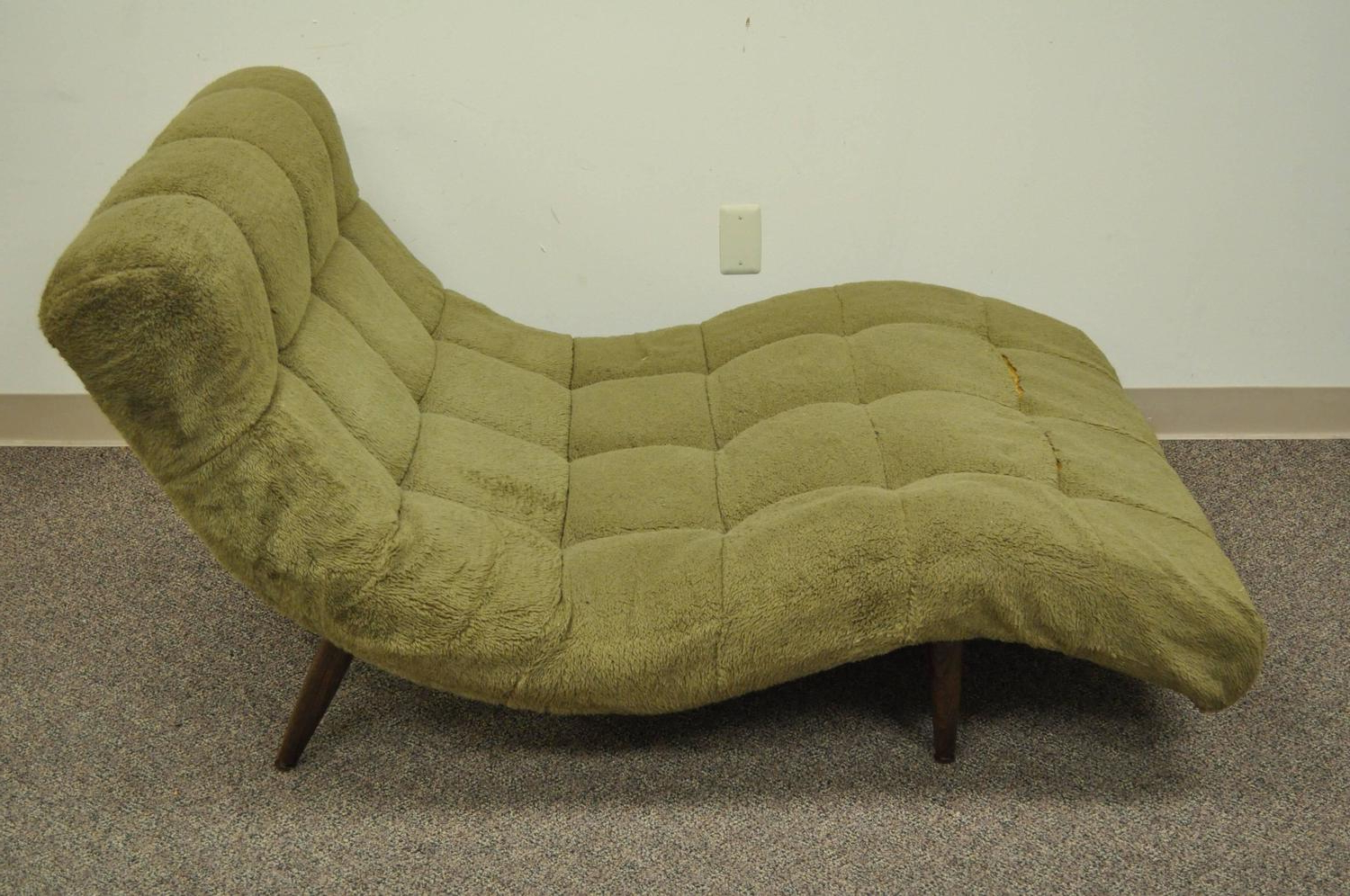 Midcentury Modern Double Wide Wave Chaise Lounge In The Regarding Trendy Extra Wide Recliner Lounge Chairs (View 18 of 25)