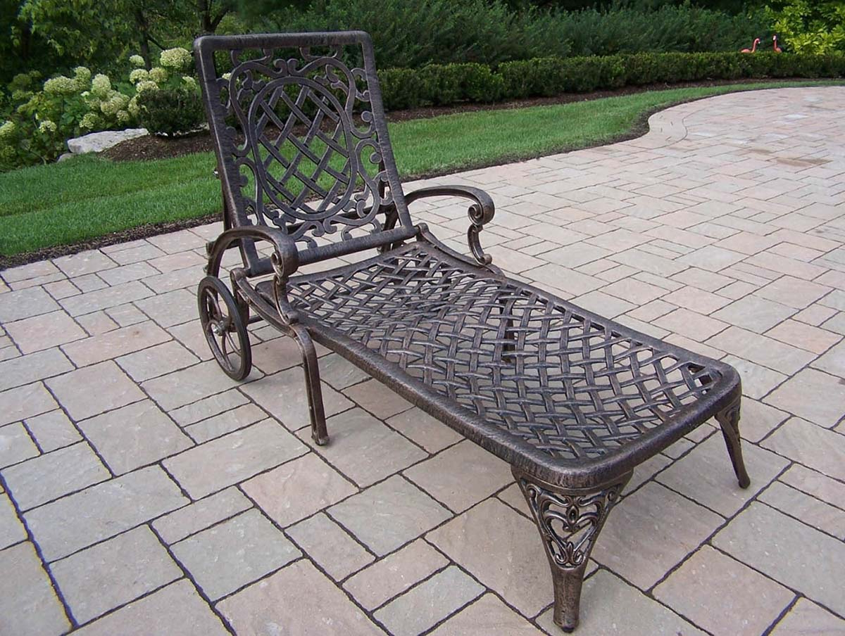 Mississippi Cast Aluminum Wheeled Patio (View 8 of 25)